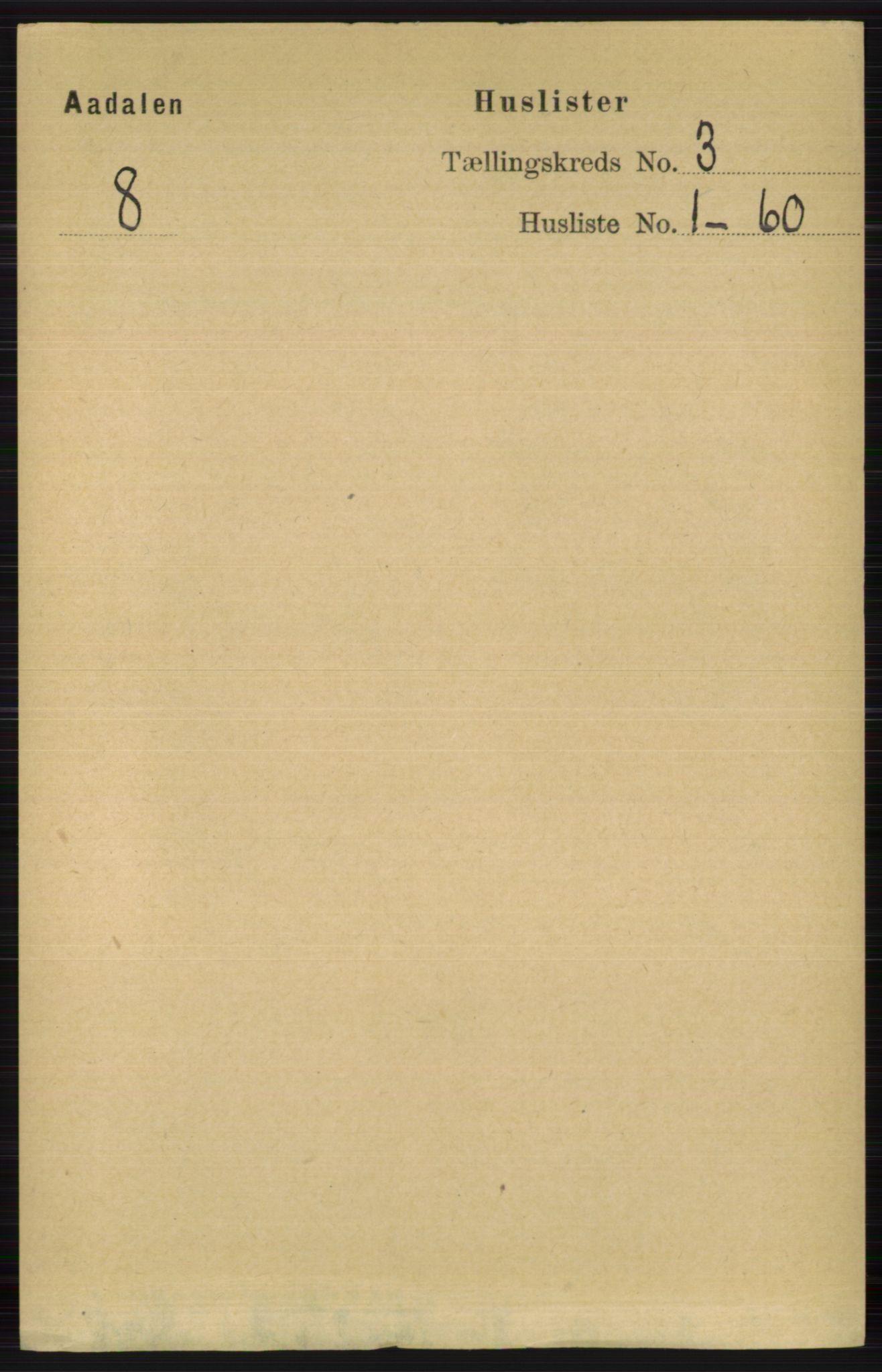 RA, Folketelling 1891 for 0614 Ådal herred, 1891, s. 964