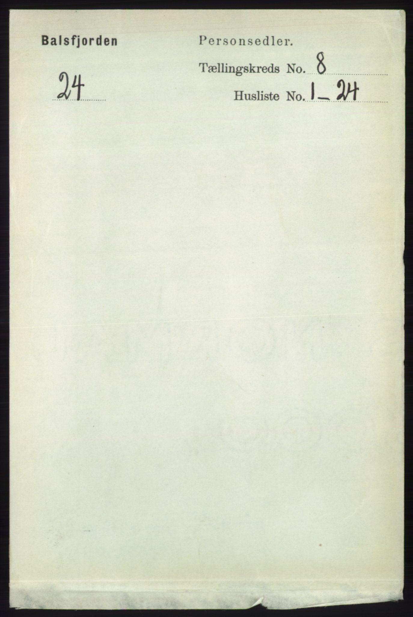 RA, Folketelling 1891 for 1933 Balsfjord herred, 1891, s. 2454