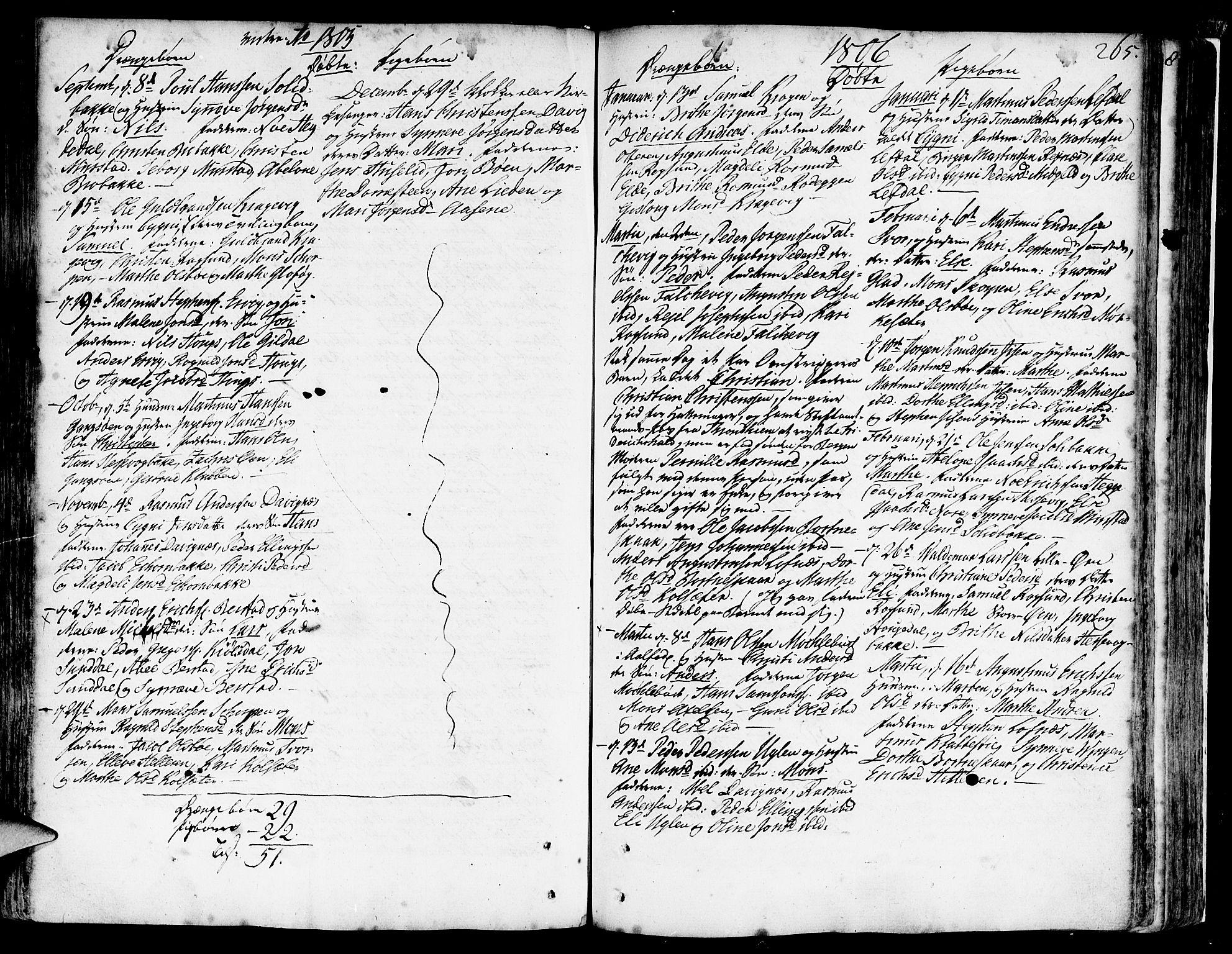 SAB, Davik Sokneprestembete, Ministerialbok nr. A 2, 1742-1816, s. 265