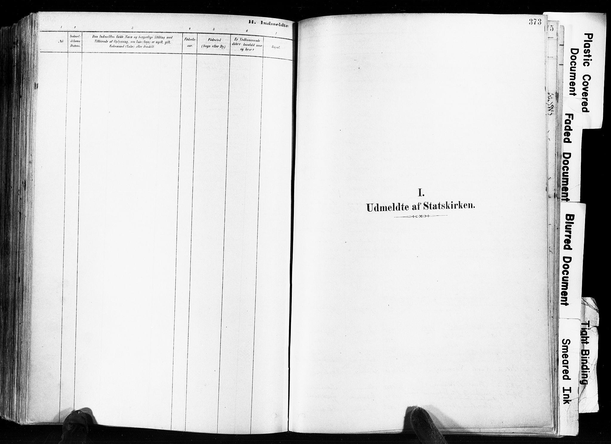 SAKO, Skien kirkebøker, F/Fa/L0009: Ministerialbok nr. 9, 1878-1890, s. 373