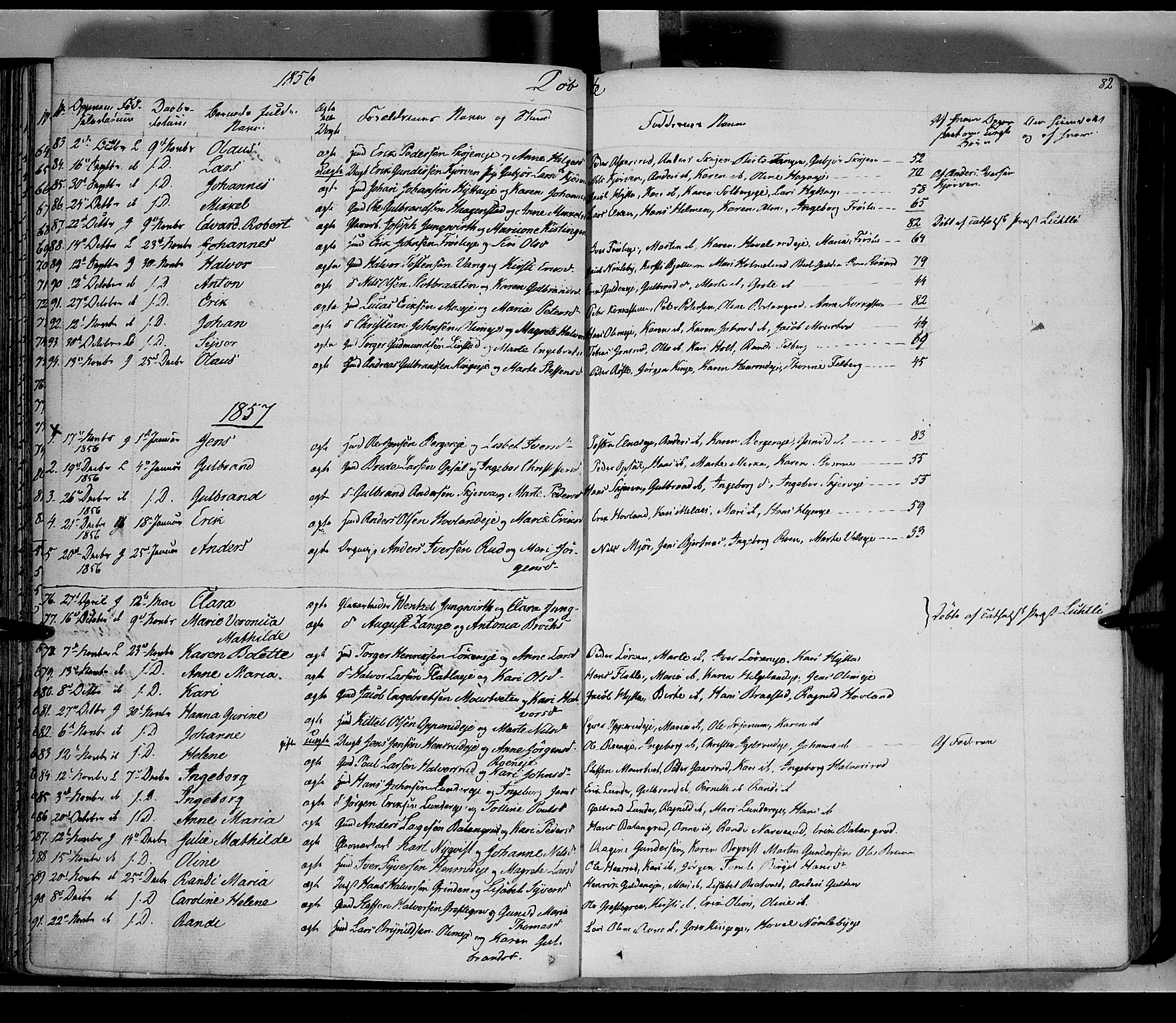 SAH, Jevnaker prestekontor, Ministerialbok nr. 6, 1837-1857, s. 82