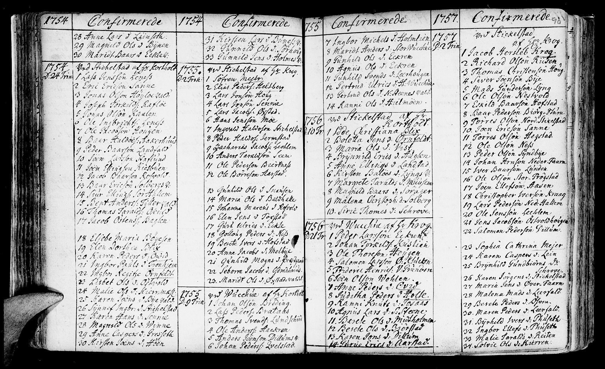 SAT, Ministerialprotokoller, klokkerbøker og fødselsregistre - Nord-Trøndelag, 723/L0231: Ministerialbok nr. 723A02, 1748-1780, s. 90