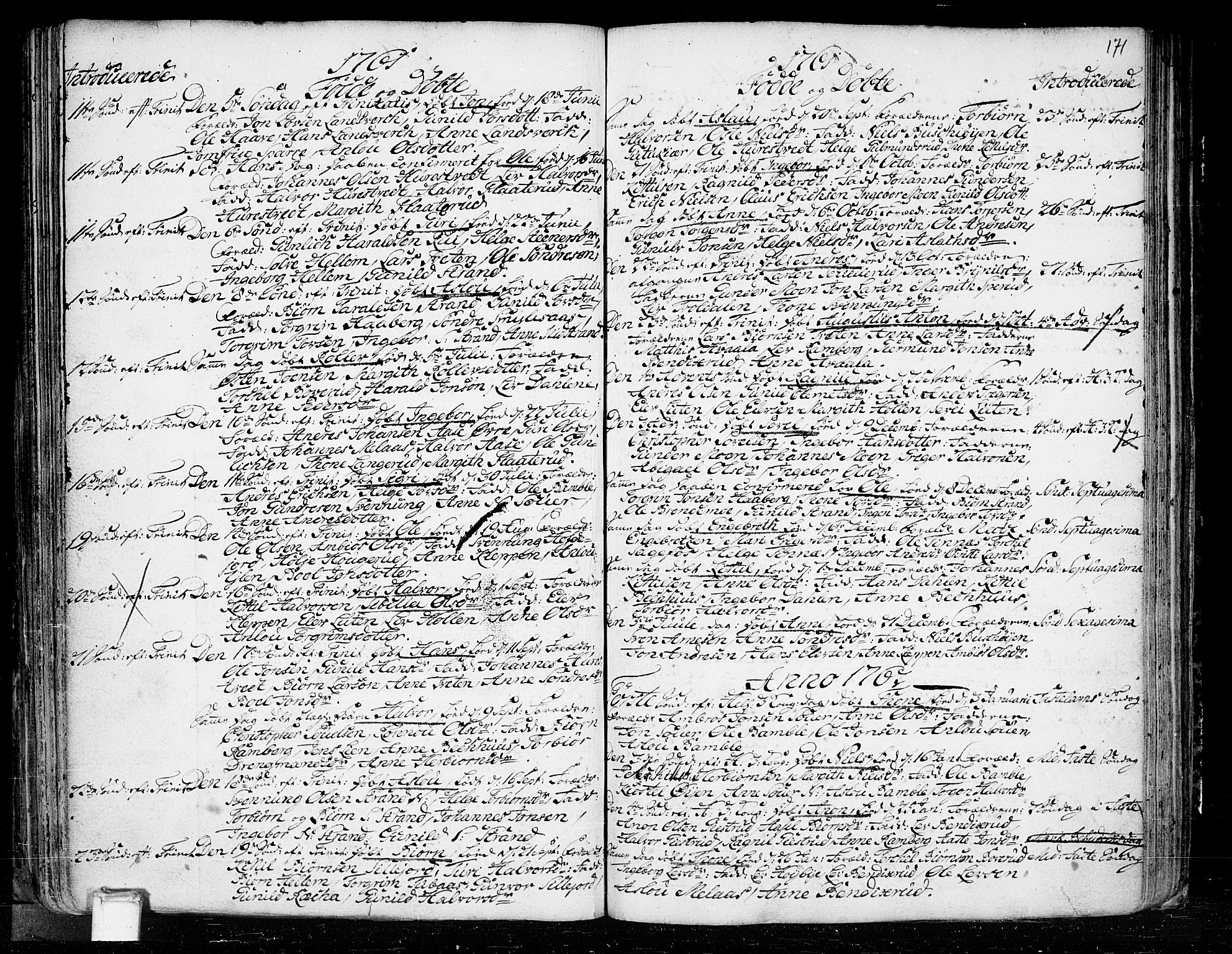 SAKO, Heddal kirkebøker, F/Fa/L0003: Ministerialbok nr. I 3, 1723-1783, s. 171