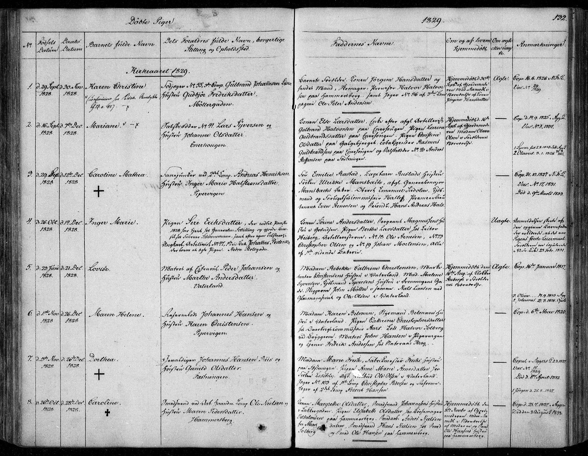 SAO, Garnisonsmenigheten Kirkebøker, F/Fa/L0006: Ministerialbok nr. 6, 1828-1841, s. 132