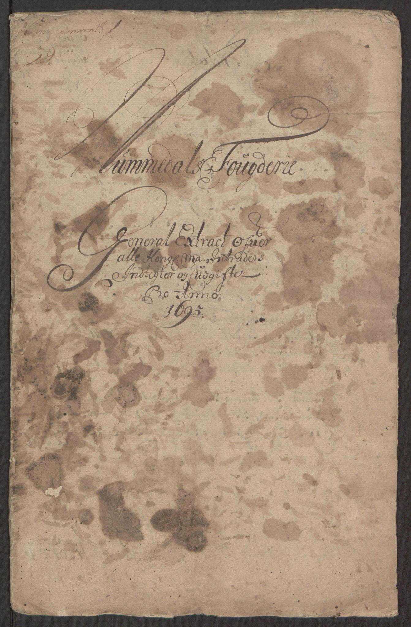 RA, Rentekammeret inntil 1814, Reviderte regnskaper, Fogderegnskap, R64/L4424: Fogderegnskap Namdal, 1692-1695, s. 452