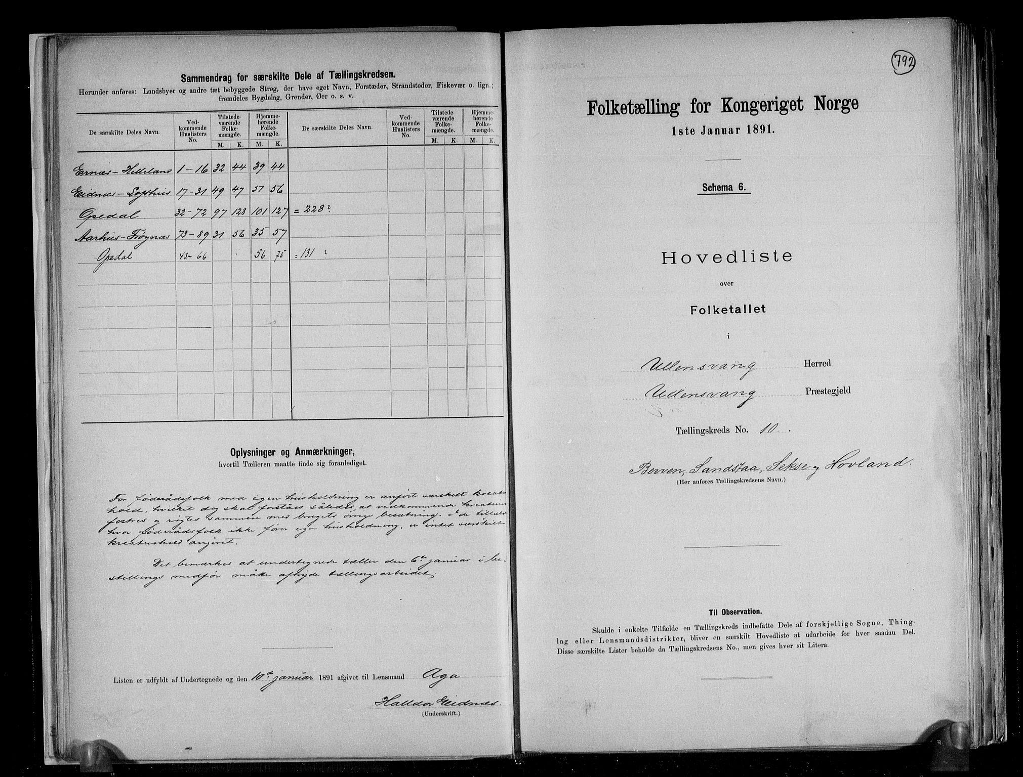 RA, Folketelling 1891 for 1230 Ullensvang herred, 1891, s. 28