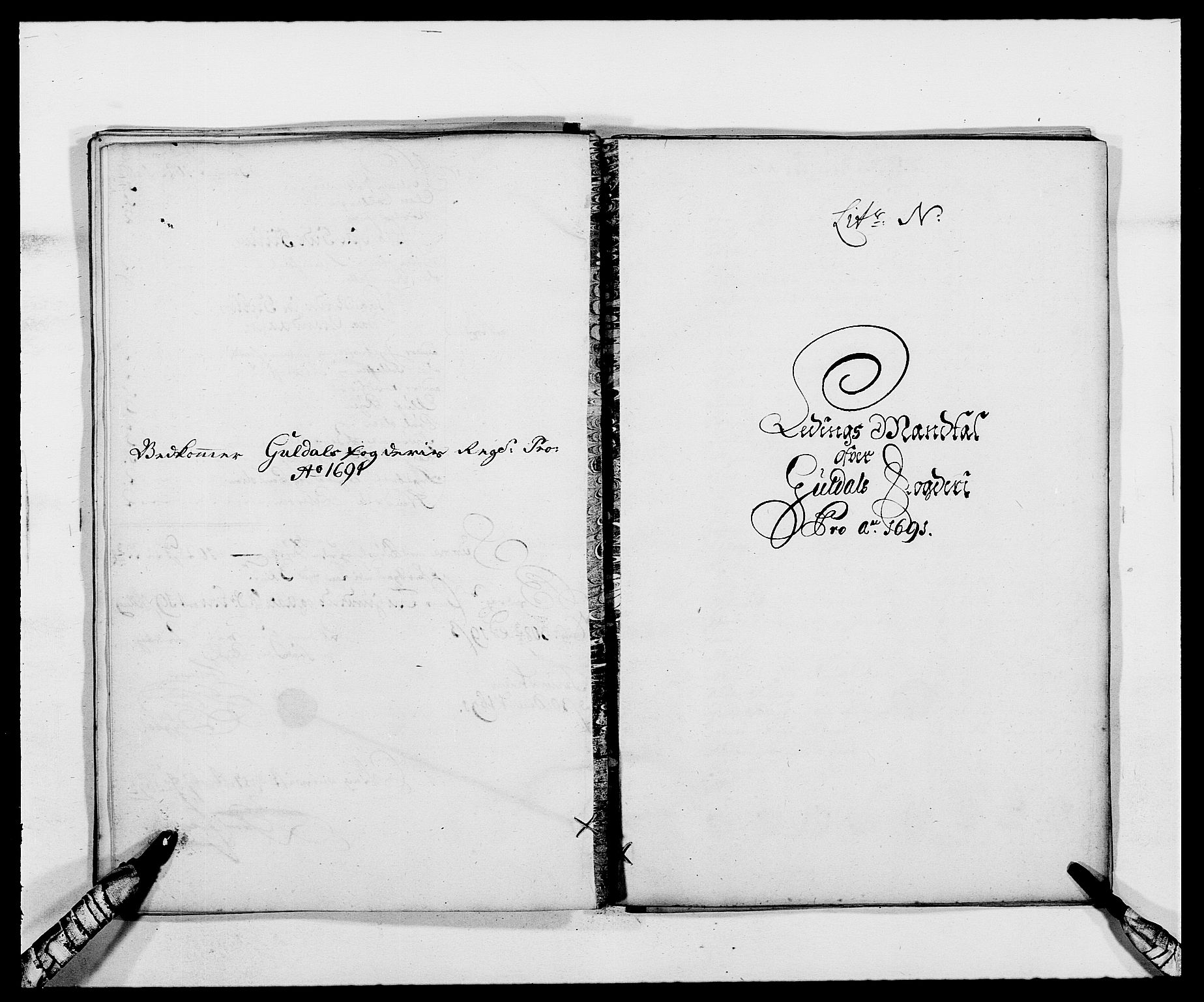 RA, Rentekammeret inntil 1814, Reviderte regnskaper, Fogderegnskap, R59/L3941: Fogderegnskap Gauldal, 1691, s. 133