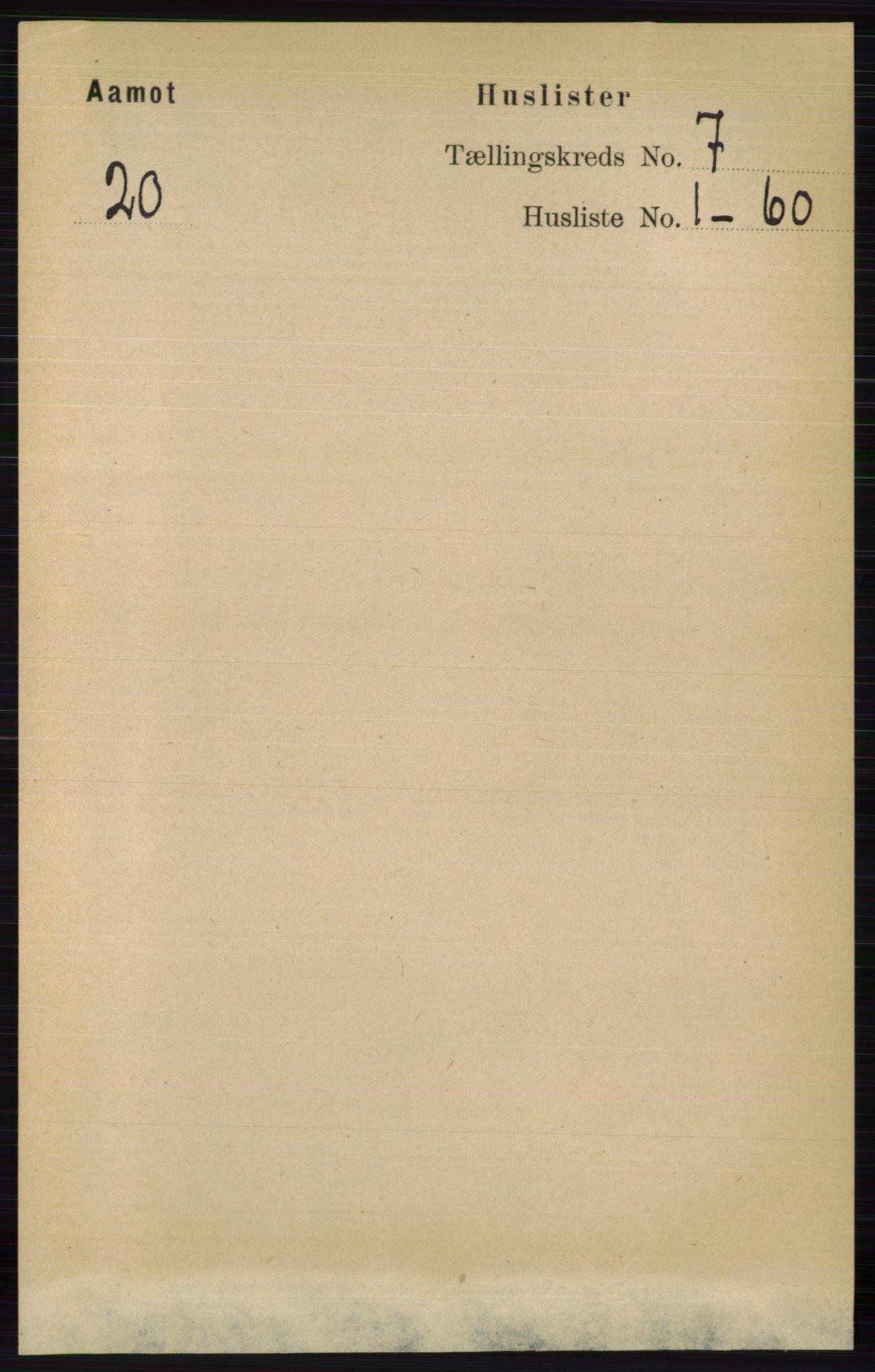 RA, Folketelling 1891 for 0429 Åmot herred, 1891, s. 2835