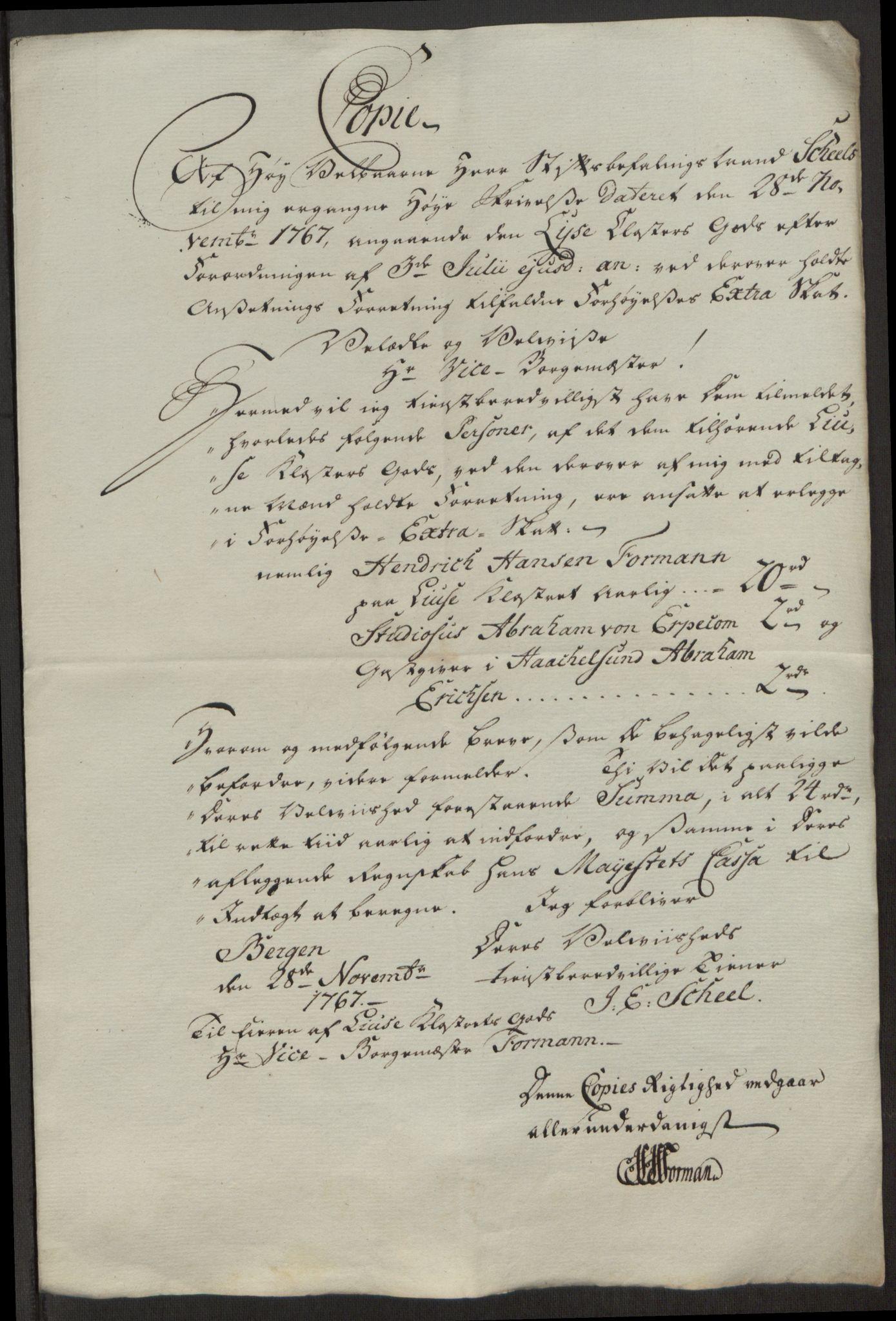 RA, Rentekammeret inntil 1814, Reviderte regnskaper, Fogderegnskap, R50/L3180: Ekstraskatten Lyse kloster, 1762-1783, s. 200