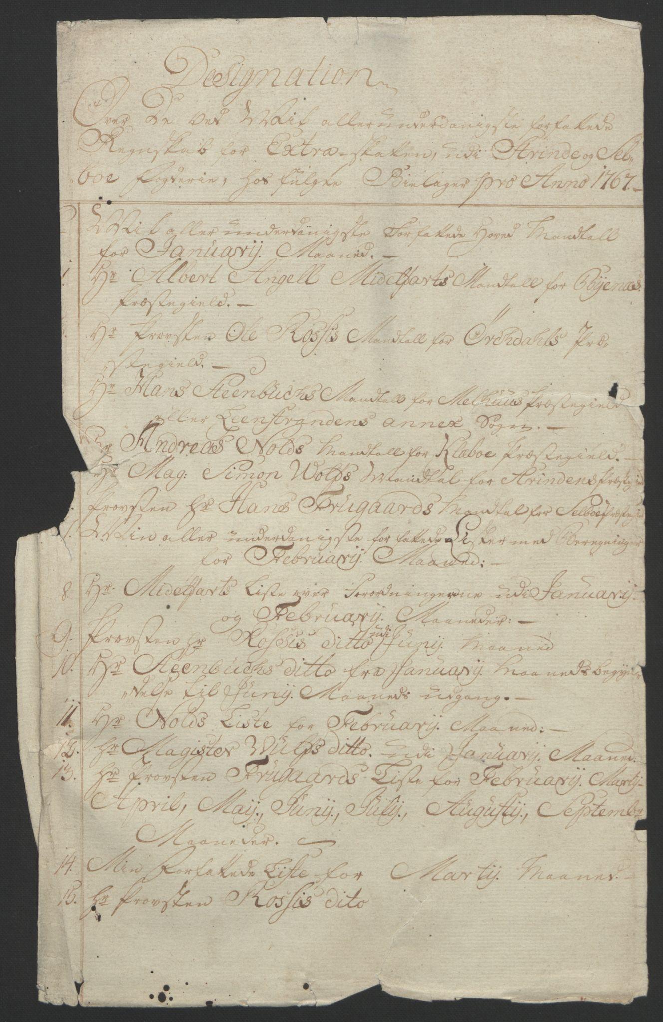 RA, Rentekammeret inntil 1814, Reviderte regnskaper, Fogderegnskap, R61/L4180: Ekstraskatten Strinda og Selbu, 1762-1767, s. 352