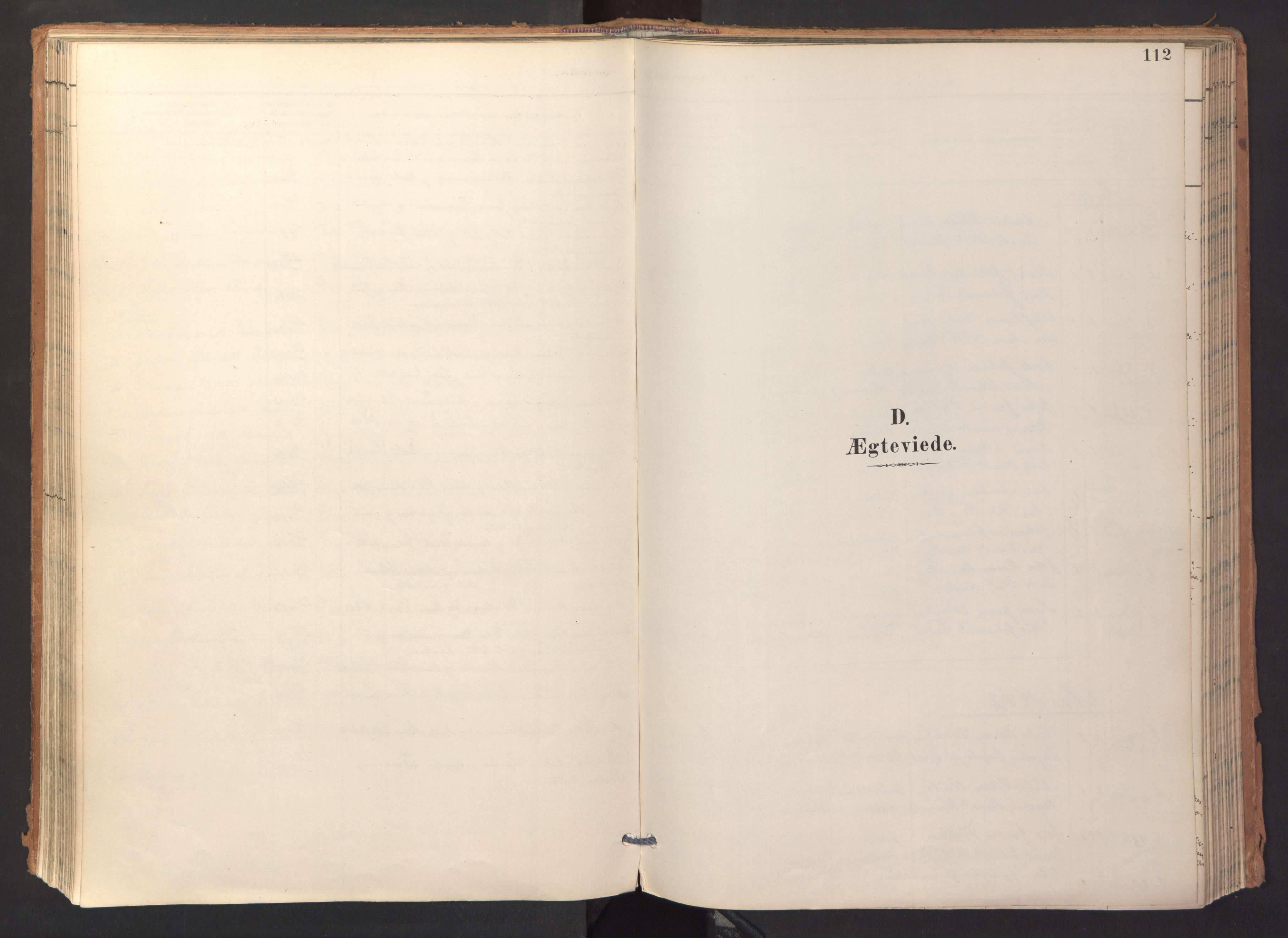 SAT, Ministerialprotokoller, klokkerbøker og fødselsregistre - Sør-Trøndelag, 688/L1025: Ministerialbok nr. 688A02, 1891-1909, s. 112