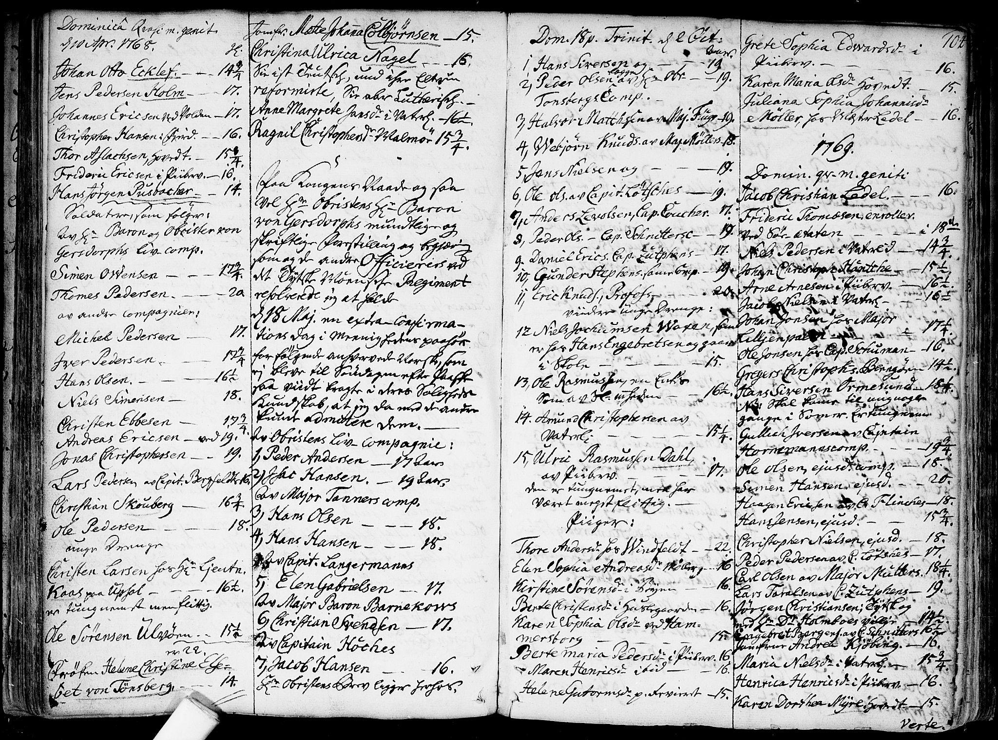 SAO, Garnisonsmenigheten Kirkebøker, F/Fa/L0002: Ministerialbok nr. 2, 1757-1776, s. 104