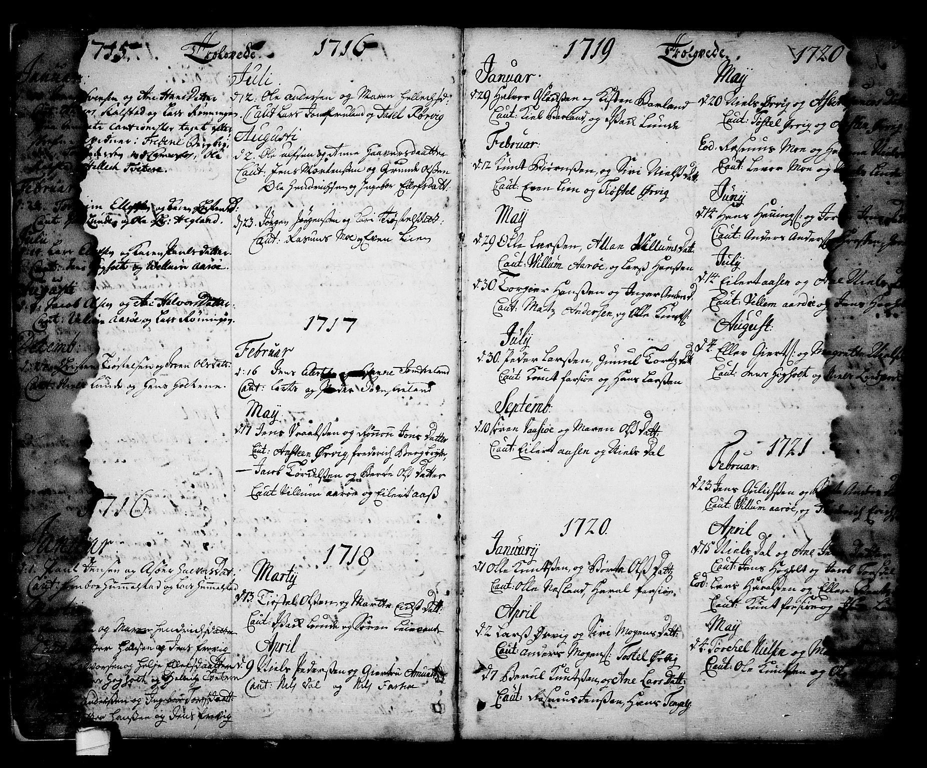 SAKO, Sannidal kirkebøker, F/Fa/L0001: Ministerialbok nr. 1, 1702-1766, s. 4-5