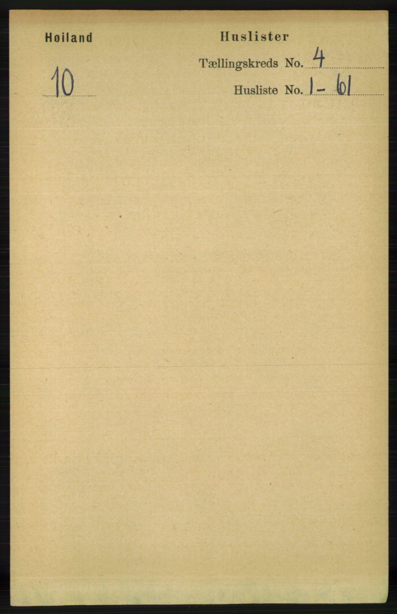 RA, Folketelling 1891 for 1123 Høyland herred, 1891, s. 963