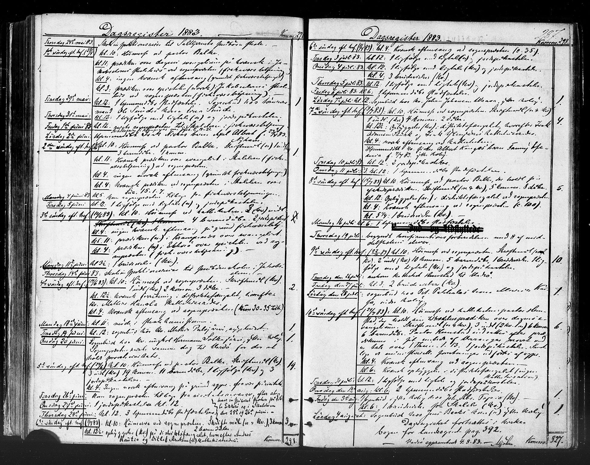 SATØ, Vadsø sokneprestkontor, H/Ha/L0005kirke: Ministerialbok nr. 5, 1873-1884, s. 287