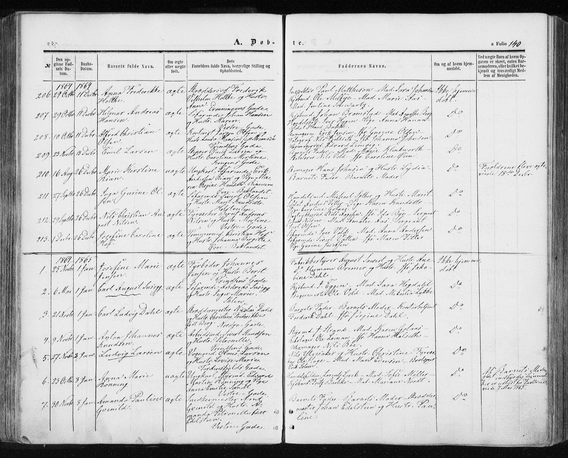 SAT, Ministerialprotokoller, klokkerbøker og fødselsregistre - Sør-Trøndelag, 601/L0053: Ministerialbok nr. 601A21, 1857-1865, s. 140