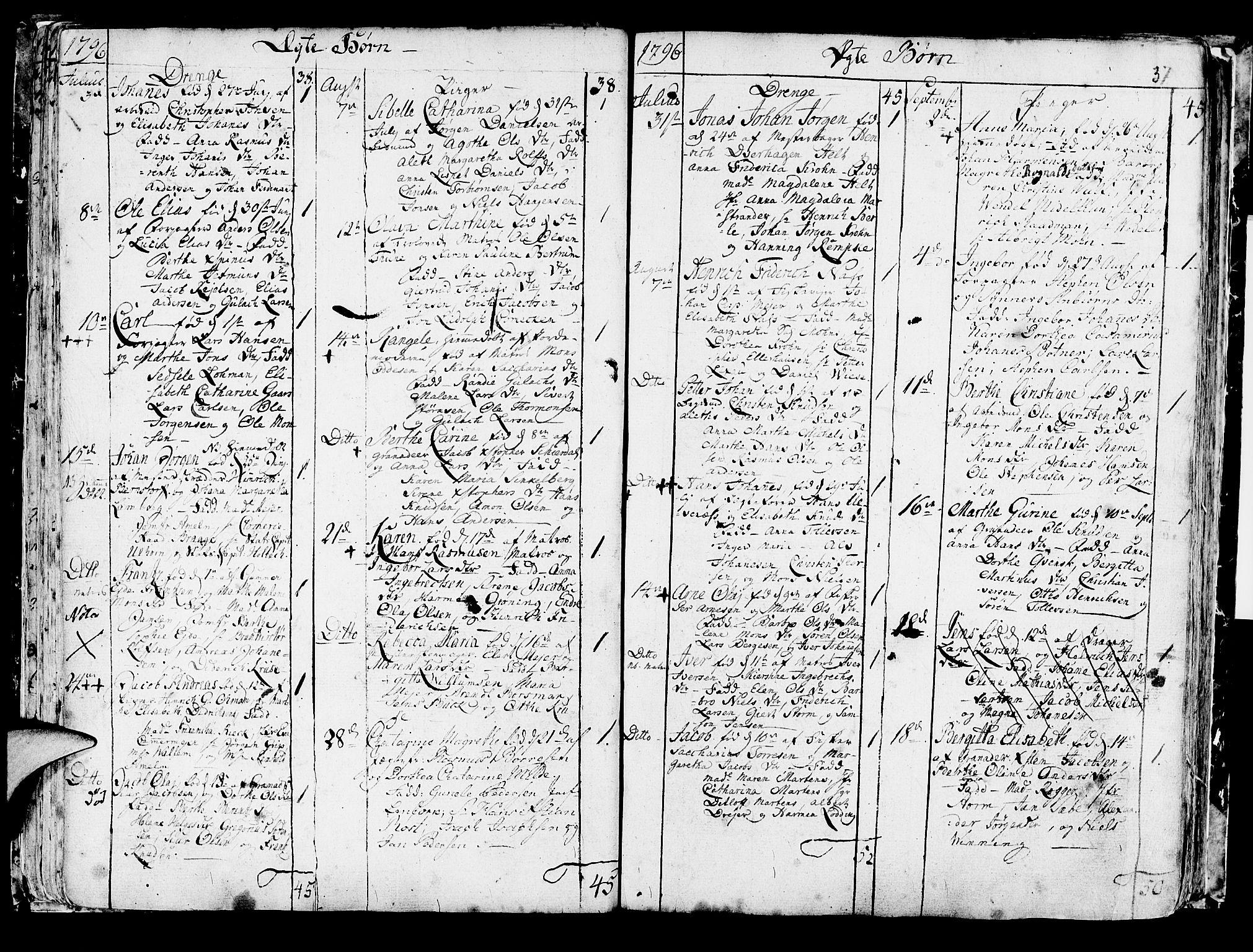 SAB, Korskirken Sokneprestembete, H/Haa/L0006: Ministerialbok nr. A 6, 1790-1820, s. 37