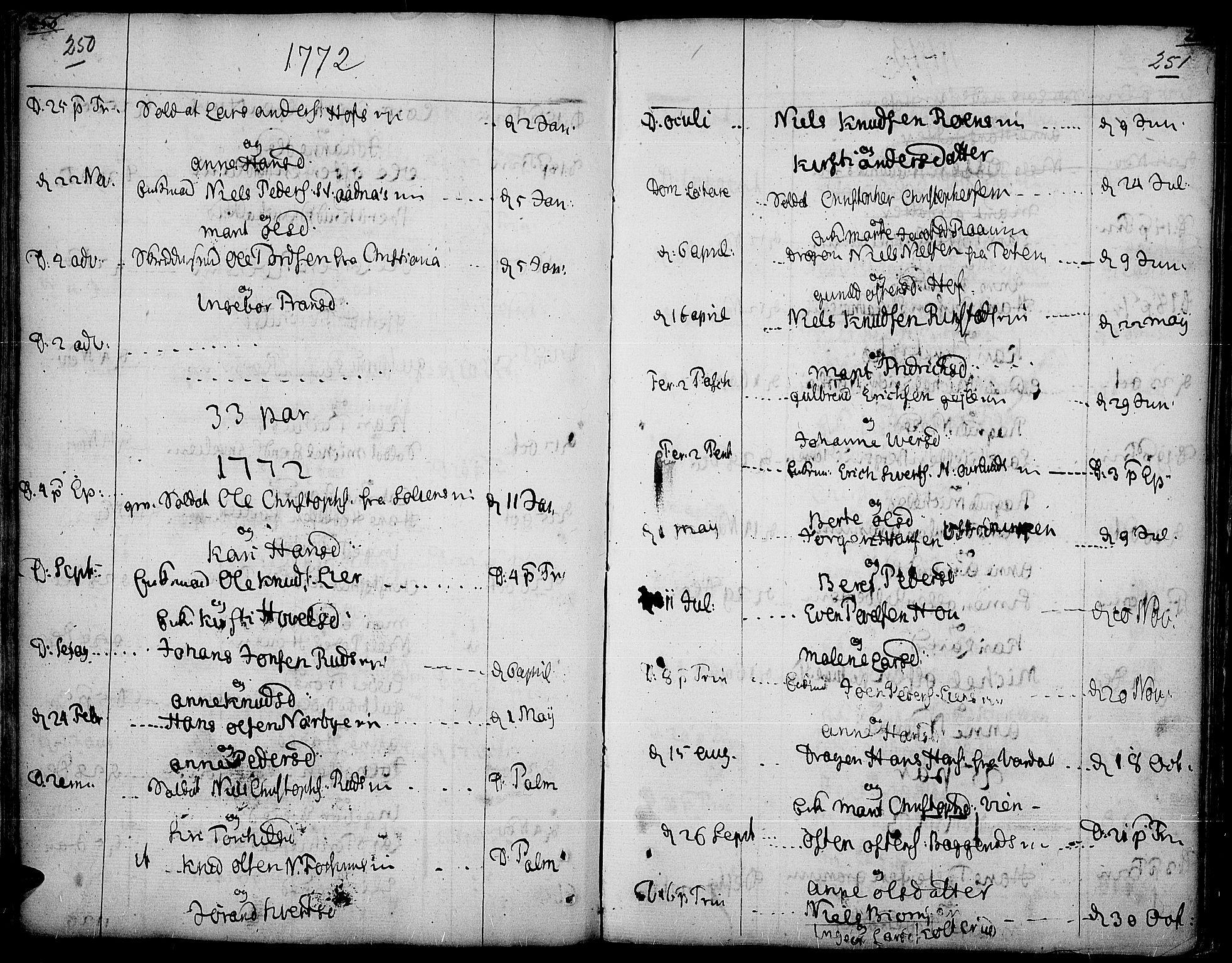 SAH, Land prestekontor, Ministerialbok nr. 5, 1765-1784, s. 250-251