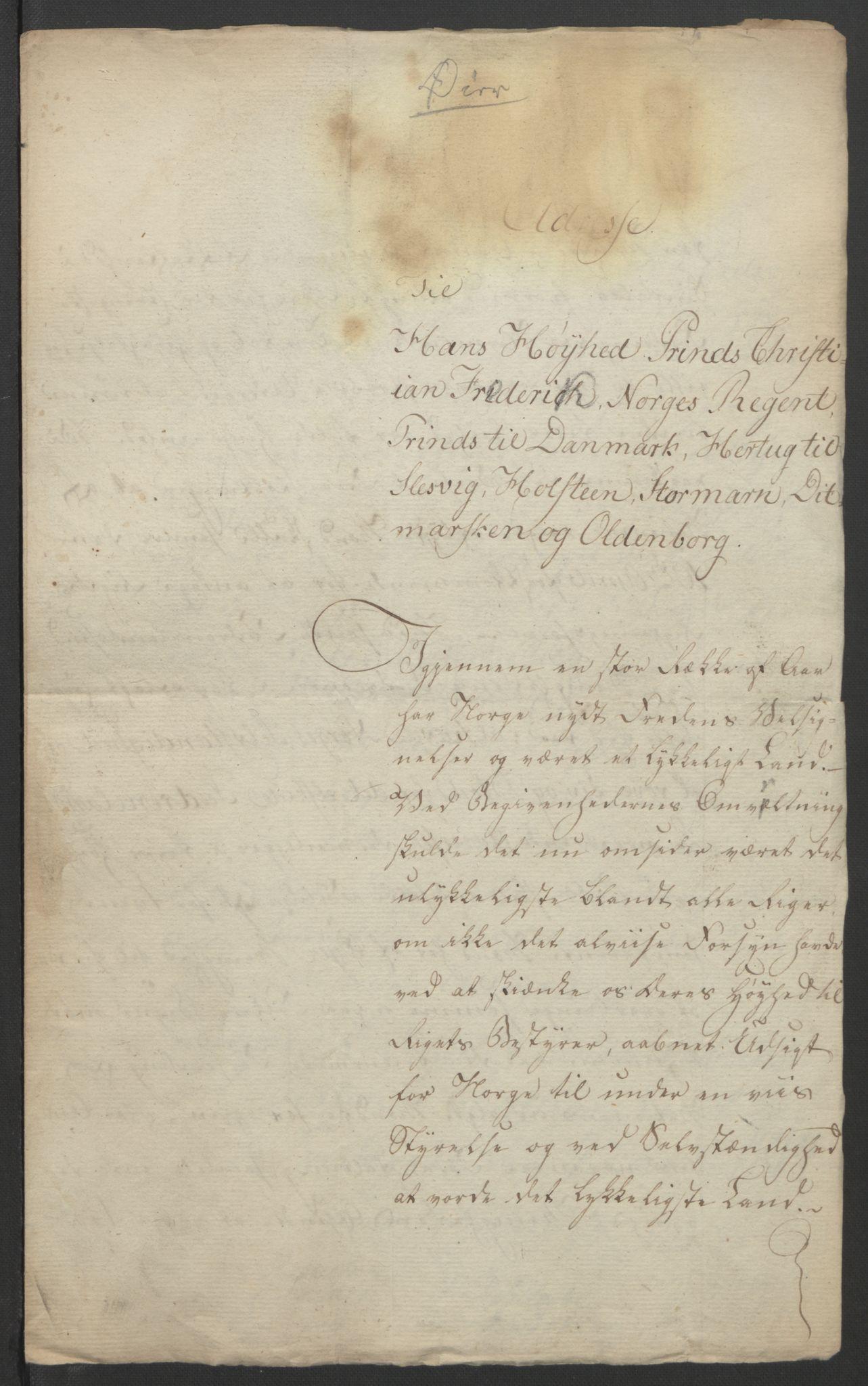 RA, Statsrådssekretariatet, D/Db/L0007: Fullmakter for Eidsvollsrepresentantene i 1814. , 1814, s. 299