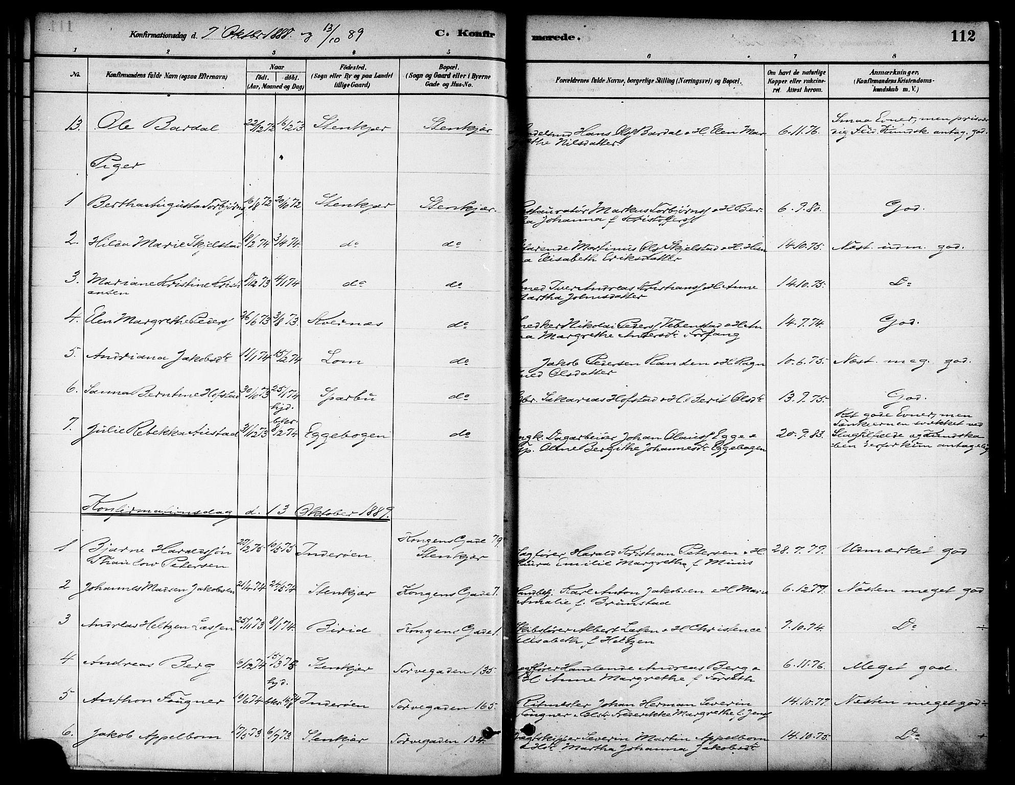 SAT, Ministerialprotokoller, klokkerbøker og fødselsregistre - Nord-Trøndelag, 739/L0371: Ministerialbok nr. 739A03, 1881-1895, s. 112