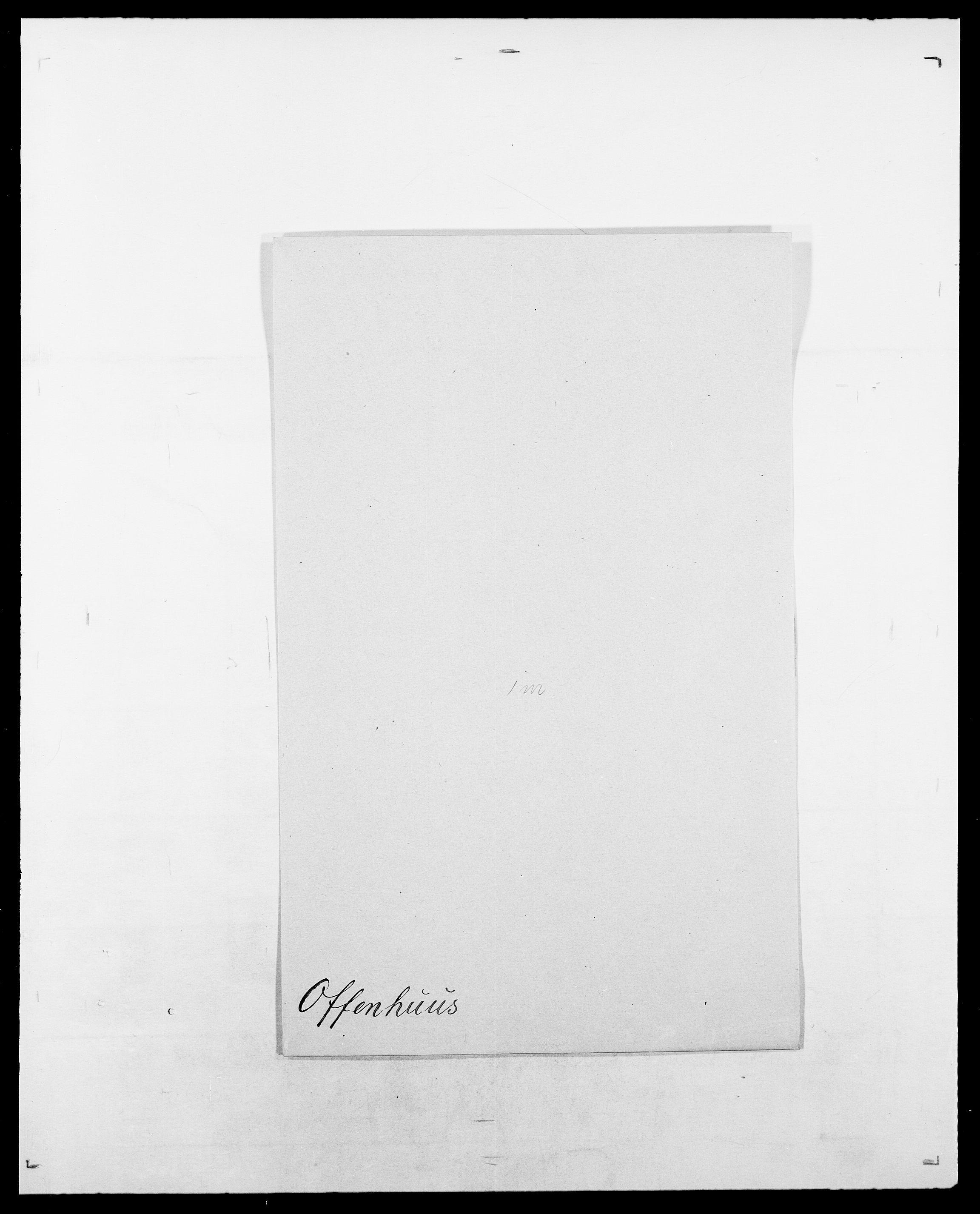 SAO, Delgobe, Charles Antoine - samling, D/Da/L0029: Obel - Oxholm, s. 43
