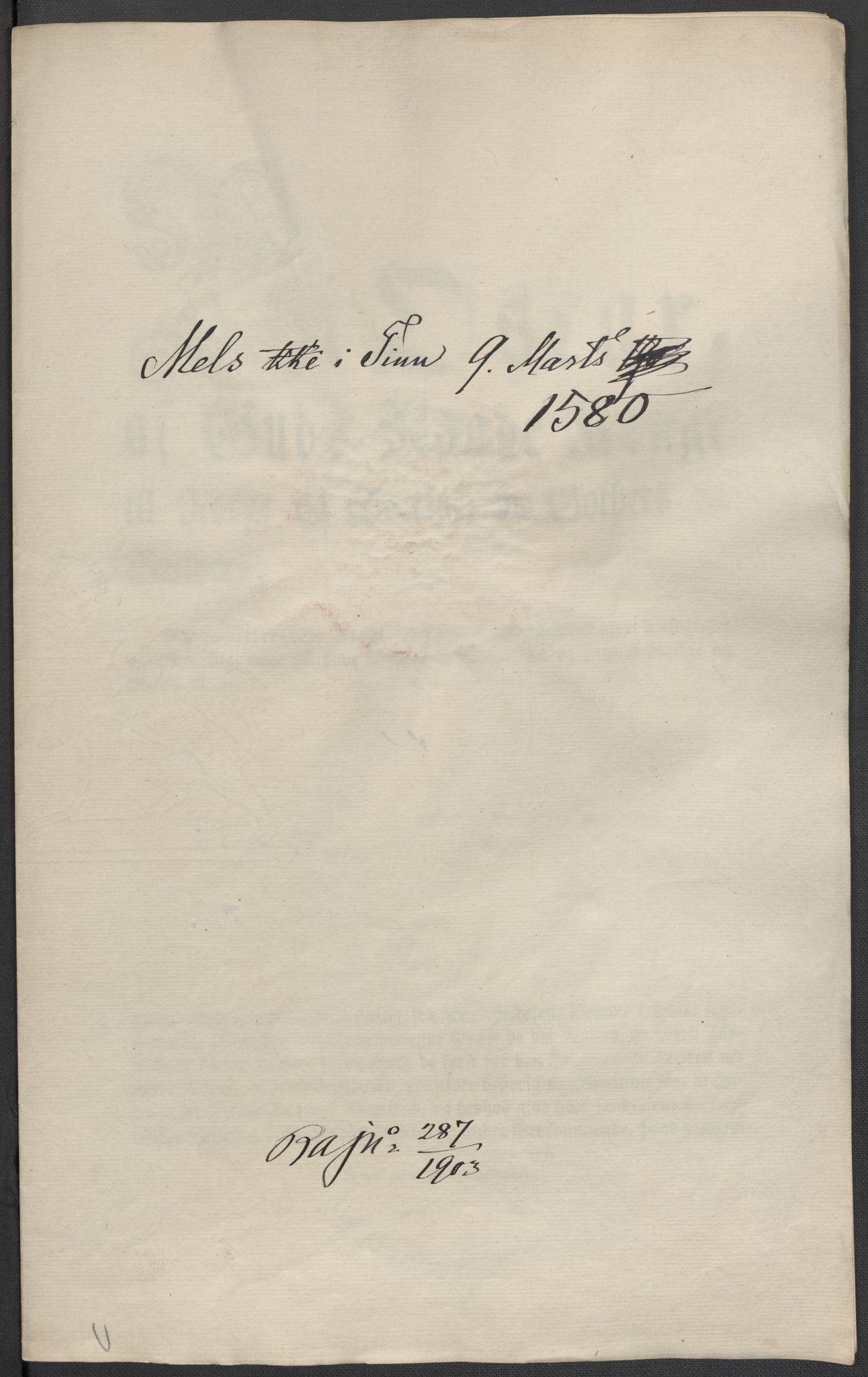 RA, Riksarkivets diplomsamling, F02/L0082: Dokumenter, 1580, s. 10
