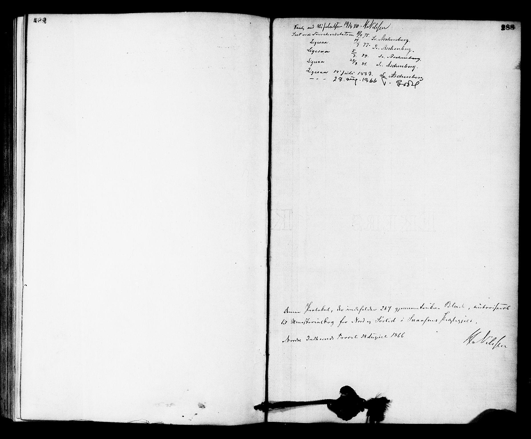 SAT, Ministerialprotokoller, klokkerbøker og fødselsregistre - Nord-Trøndelag, 755/L0493: Ministerialbok nr. 755A02, 1865-1881, s. 288