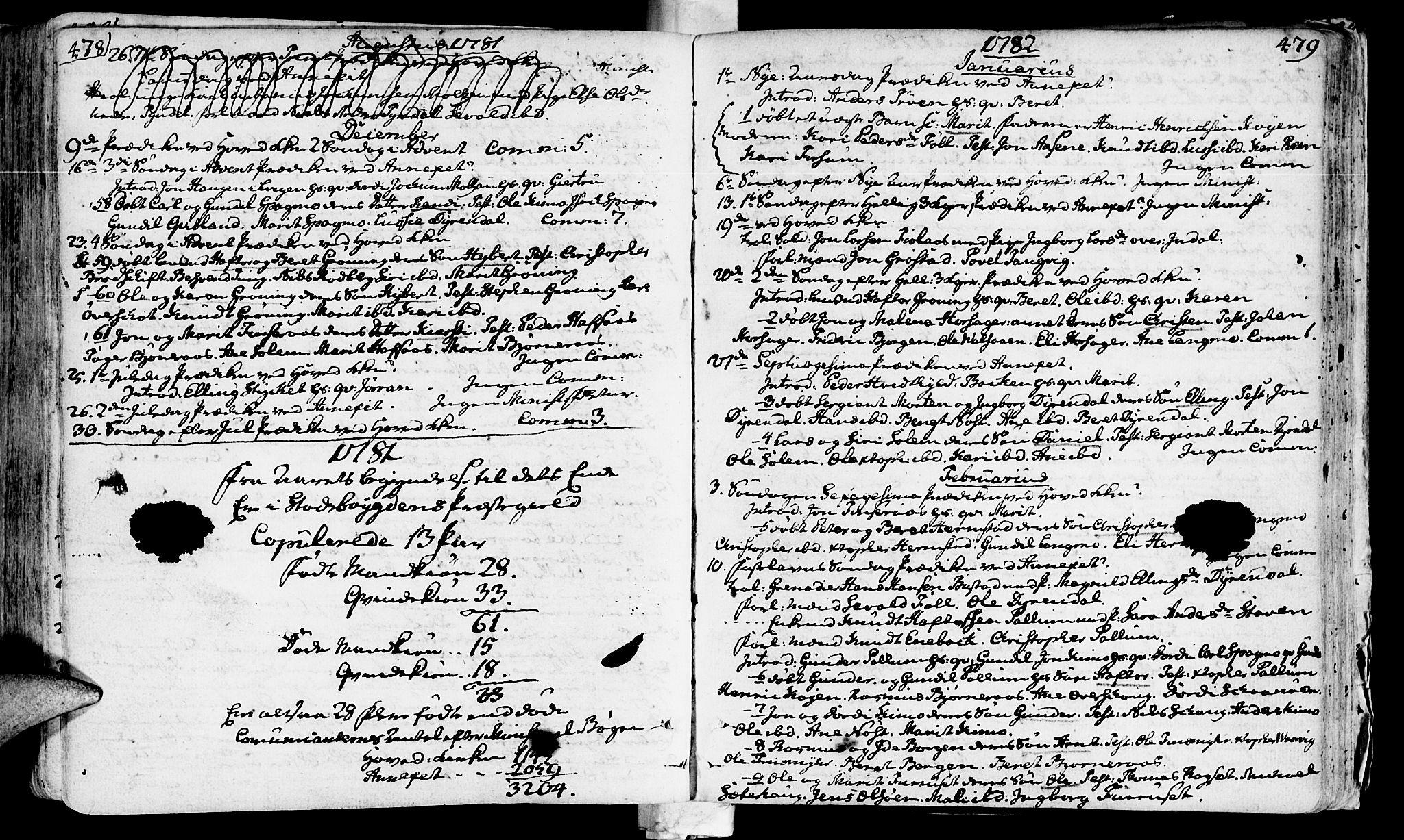 SAT, Ministerialprotokoller, klokkerbøker og fødselsregistre - Sør-Trøndelag, 646/L0605: Ministerialbok nr. 646A03, 1751-1790, s. 478-479