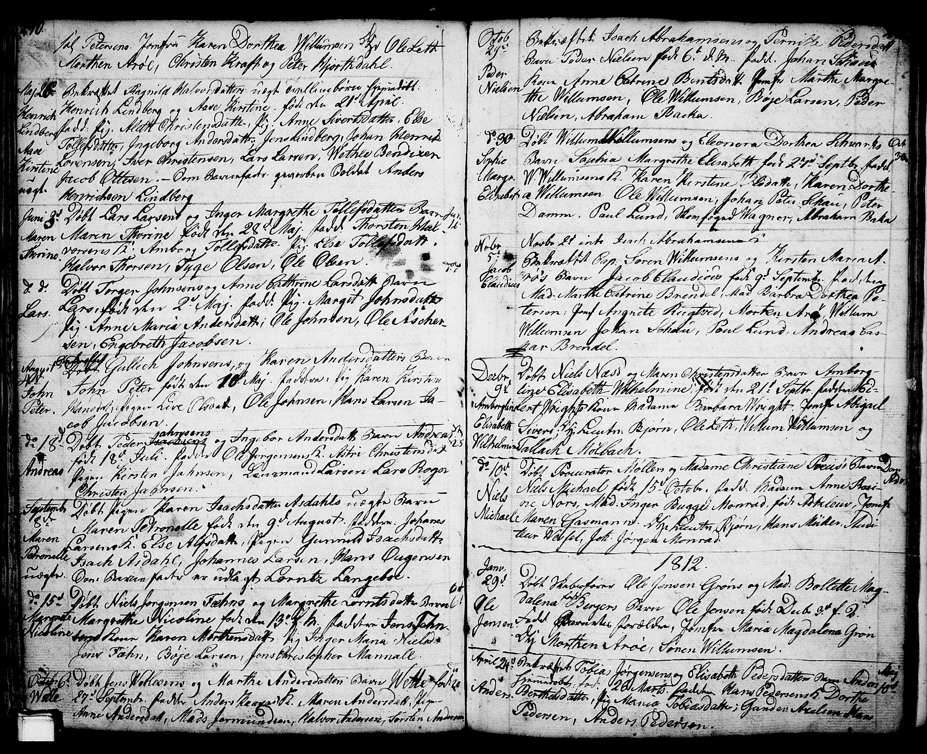 SAKO, Porsgrunn kirkebøker , F/Fa/L0001: Ministerialbok nr. 1, 1764-1814, s. 240-241