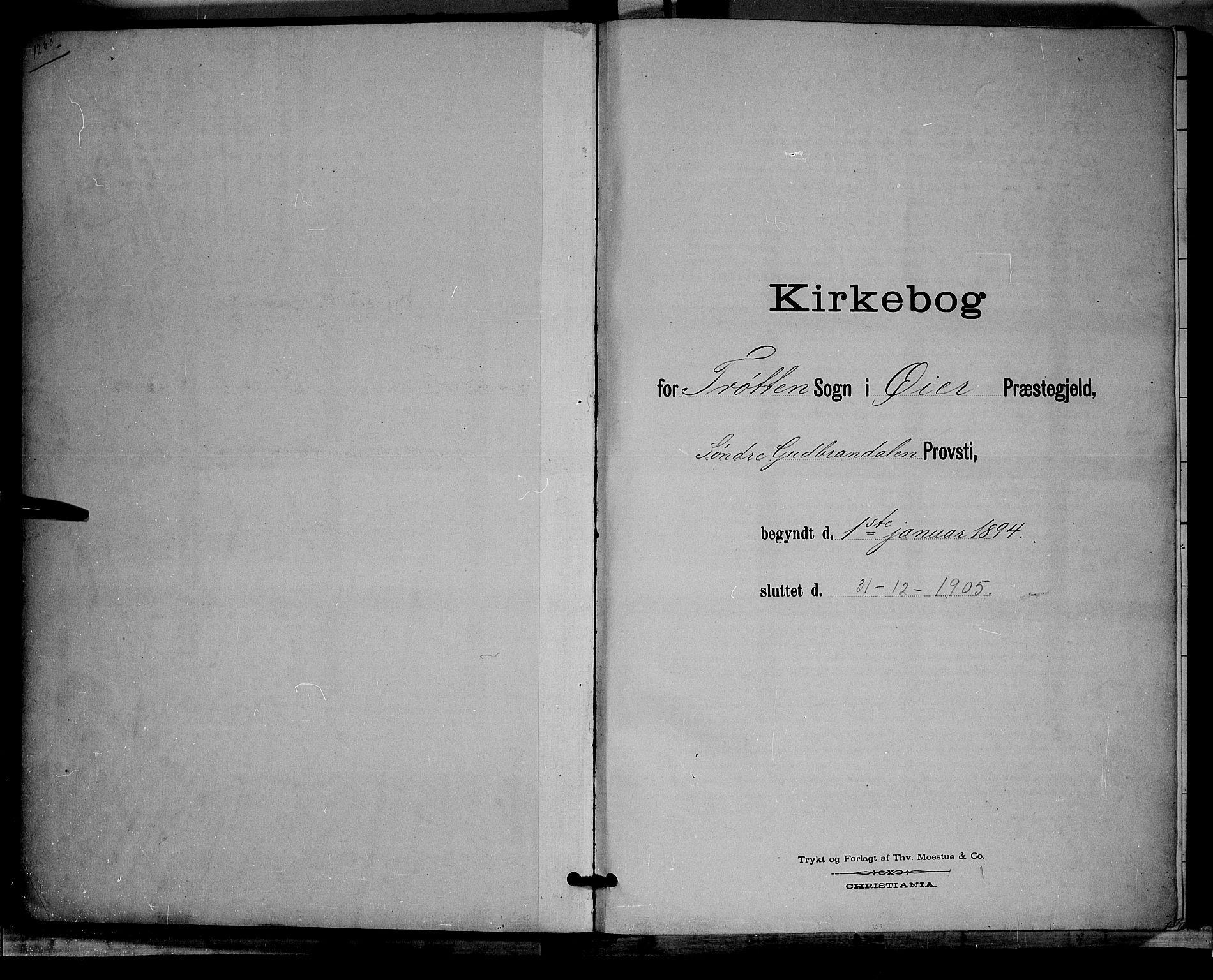 SAH, Øyer prestekontor, Klokkerbok nr. 4, 1894-1905