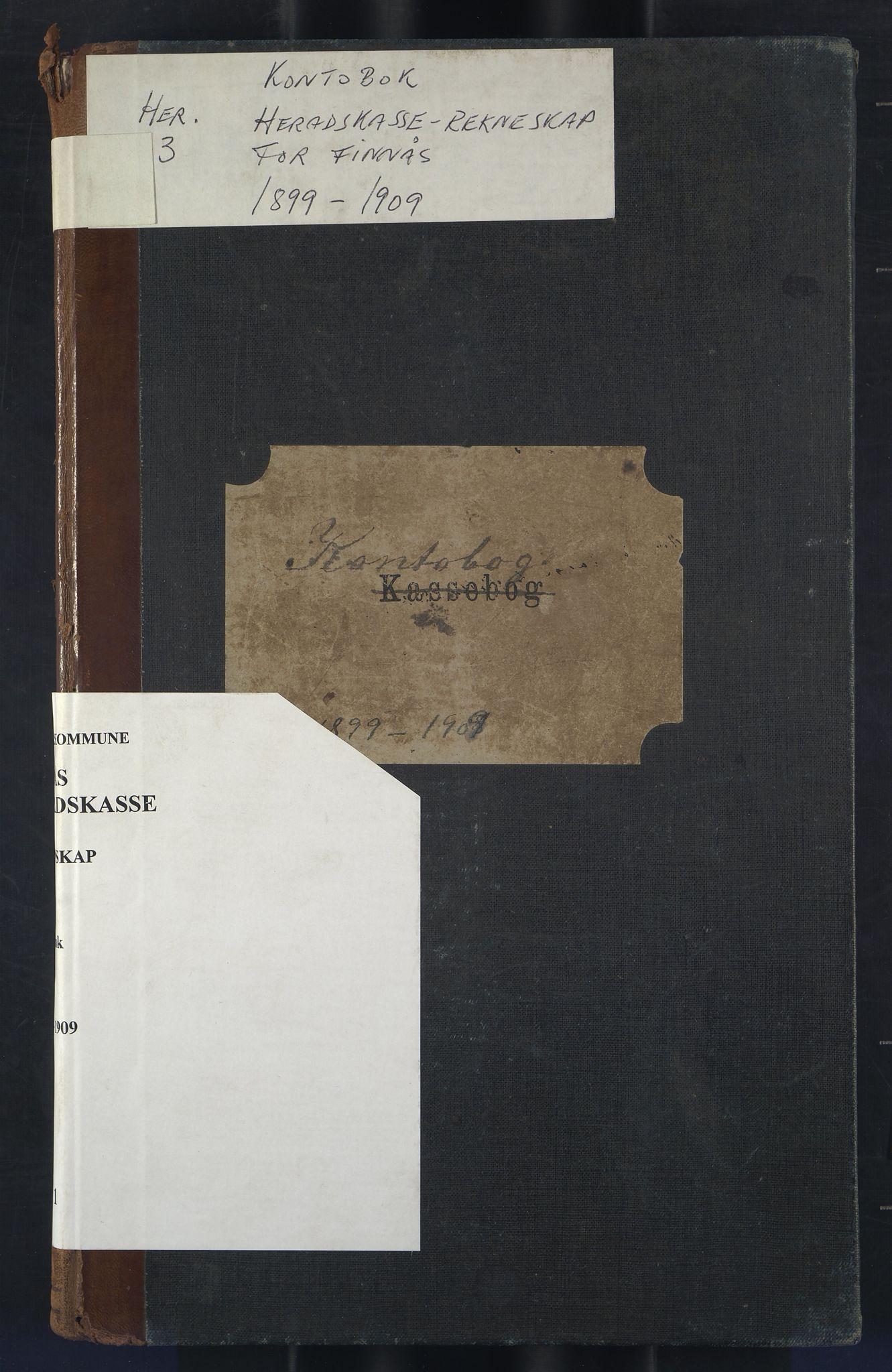 IKAH, Finnaas kommune. Heradskassen, R/Rc/Rca/L0001: Kontobok, 1899-1909