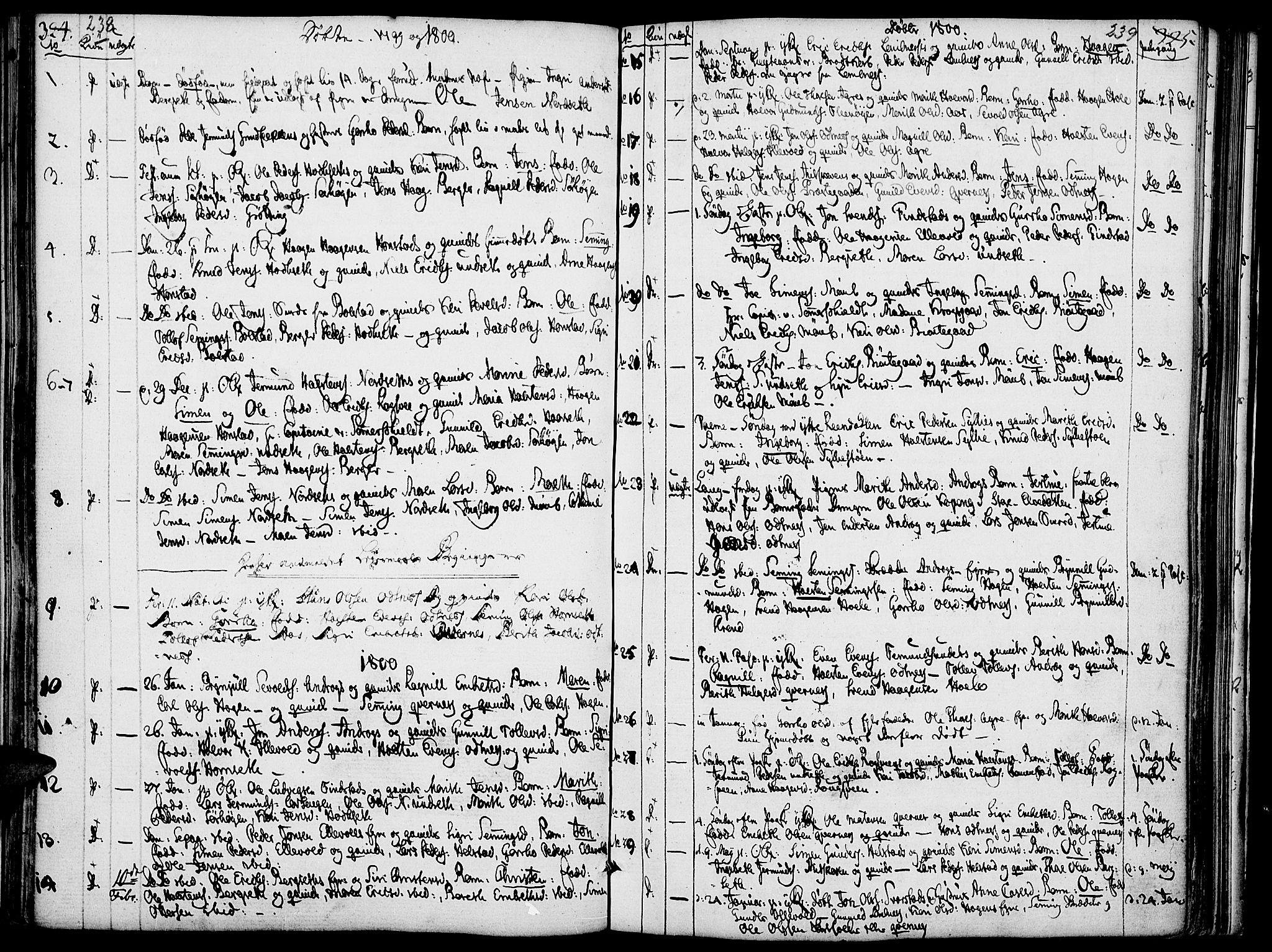 SAH, Rendalen prestekontor, H/Ha/Haa/L0002: Ministerialbok nr. 2, 1788-1814, s. 238-239