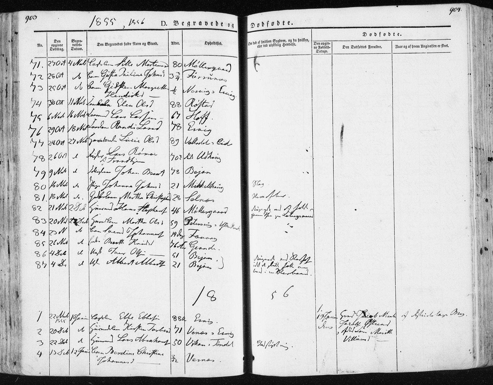 SAT, Ministerialprotokoller, klokkerbøker og fødselsregistre - Sør-Trøndelag, 659/L0736: Ministerialbok nr. 659A06, 1842-1856, s. 903-904