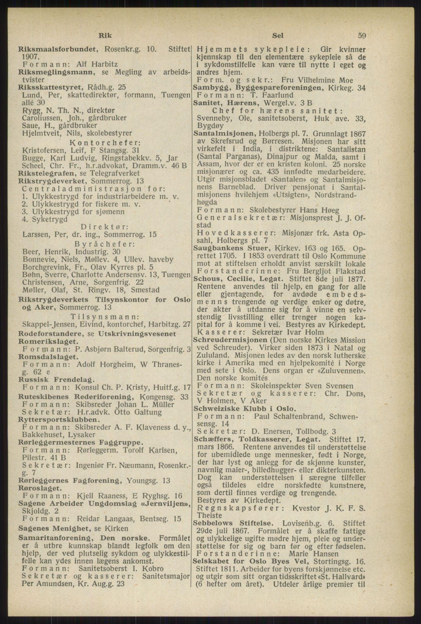 RA, Oslo adressebok (publikasjon)*, 1937, s. 59