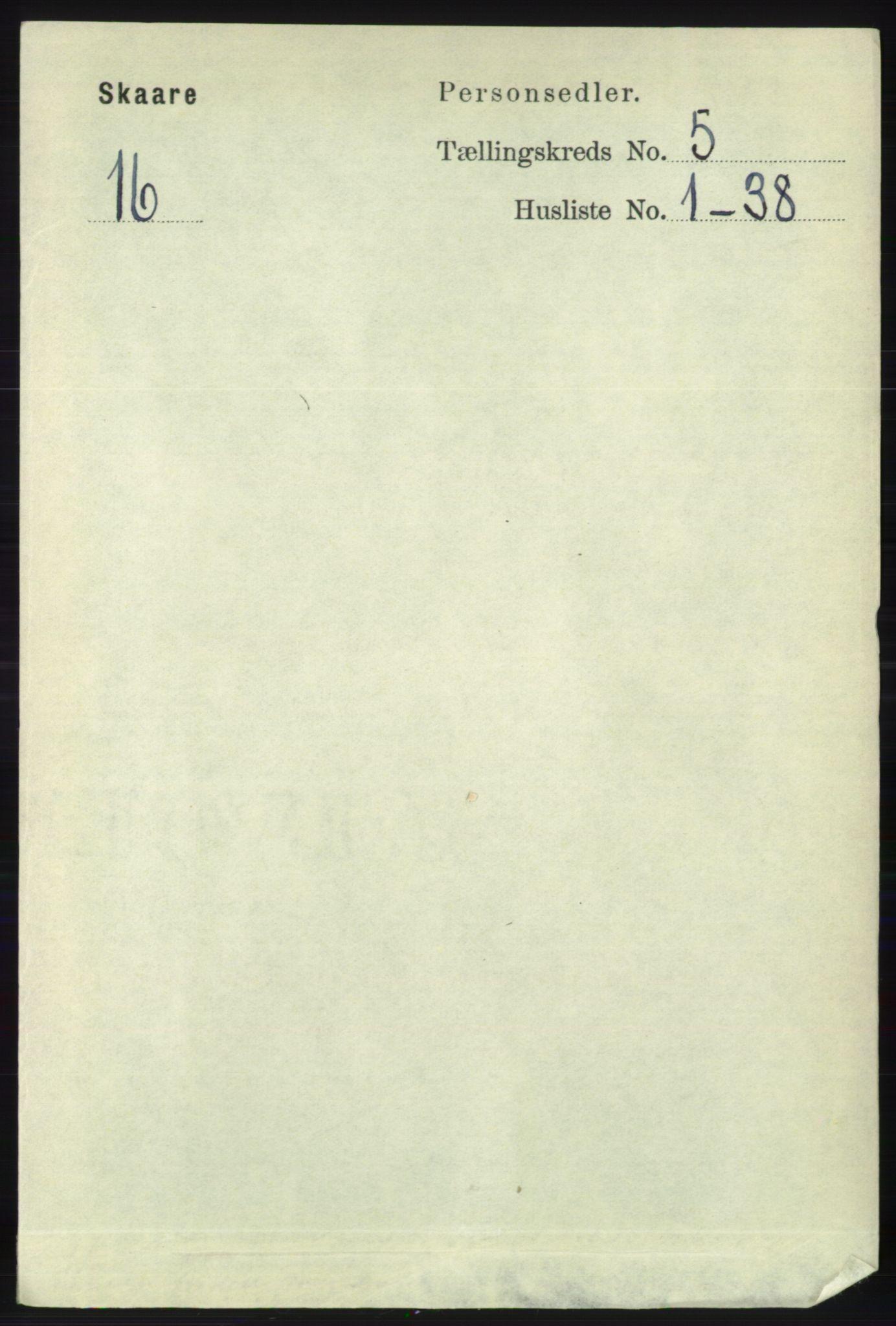 RA, Folketelling 1891 for 1153 Skåre herred, 1891, s. 2154