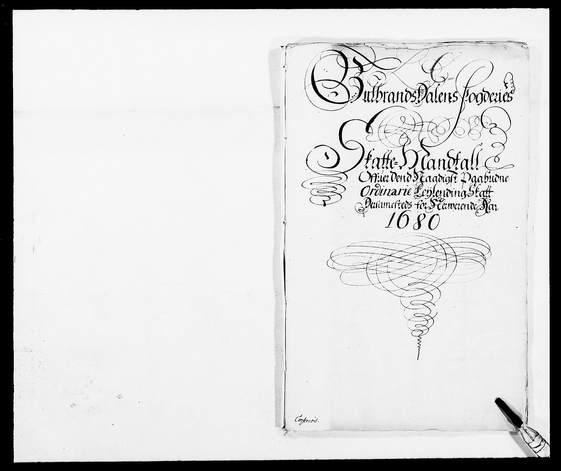 RA, Rentekammeret inntil 1814, Reviderte regnskaper, Fogderegnskap, R17/L1154: Fogderegnskap Gudbrandsdal, 1680, s. 261