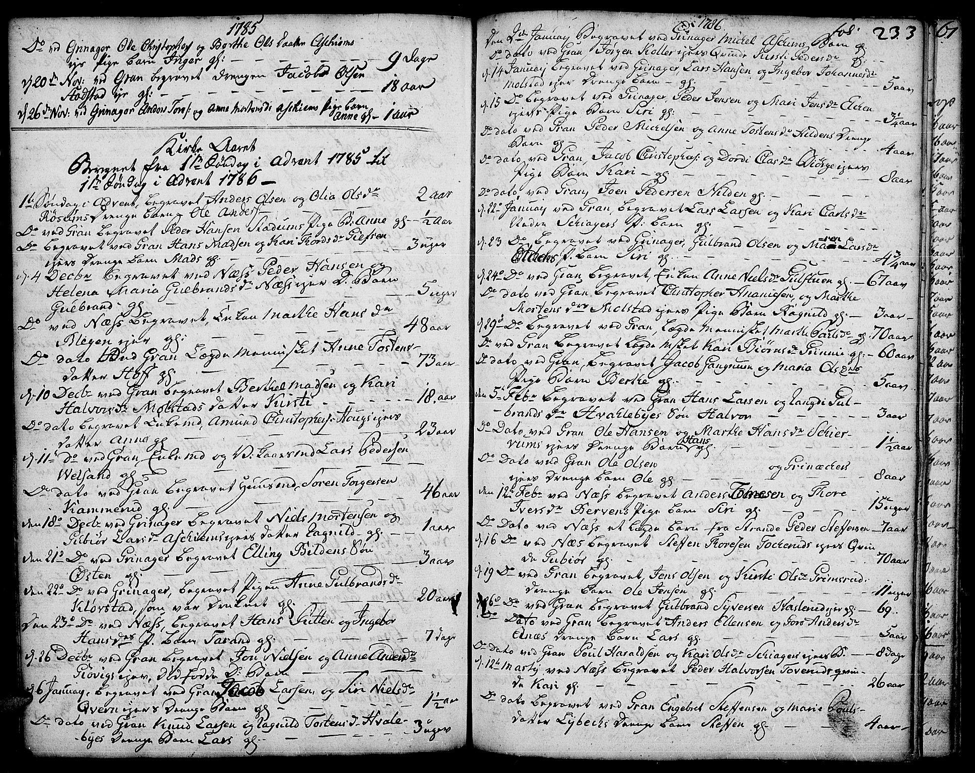 SAH, Gran prestekontor, Ministerialbok nr. 5, 1776-1788, s. 233