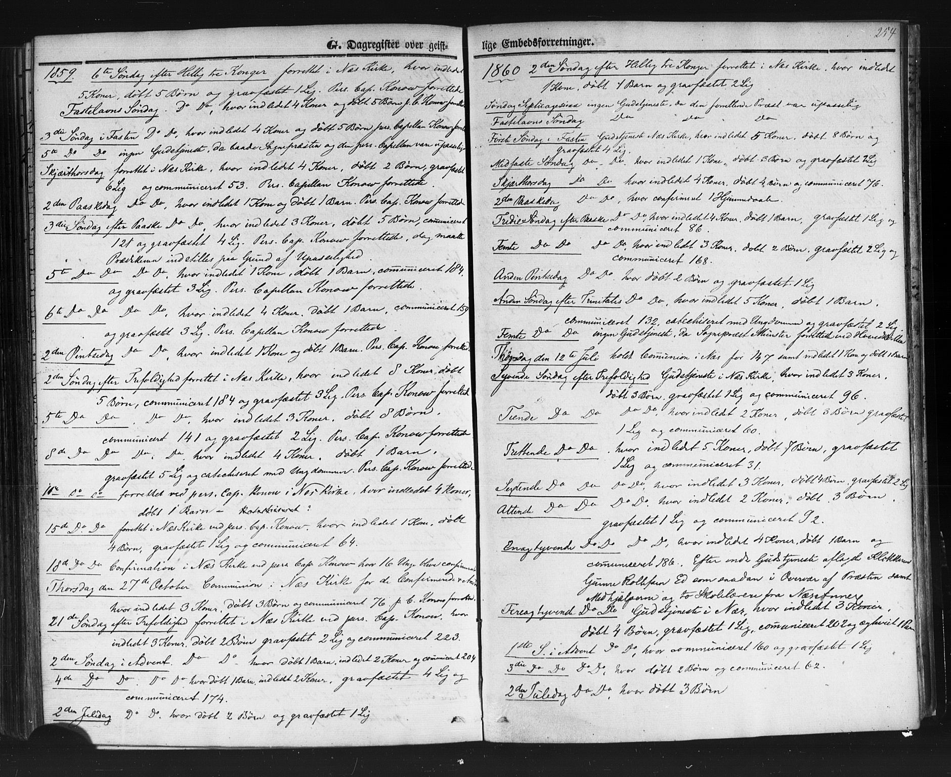 SAKO, Sauherad kirkebøker, F/Fb/L0001: Ministerialbok nr. II 1, 1851-1877, s. 254