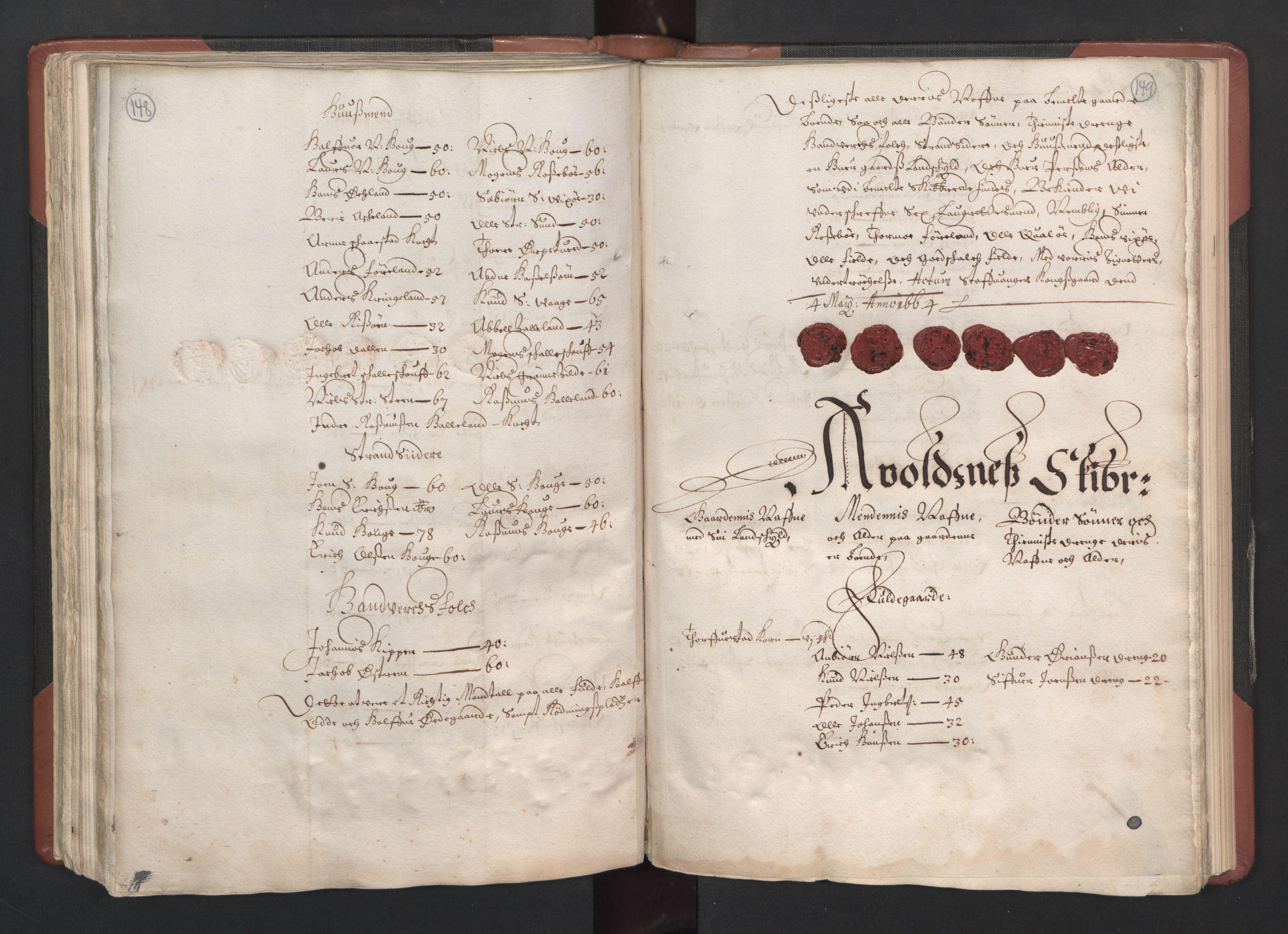 RA, Fogdenes og sorenskrivernes manntall 1664-1666, nr. 12: Ryfylke fogderi, 1664, s. 148-149