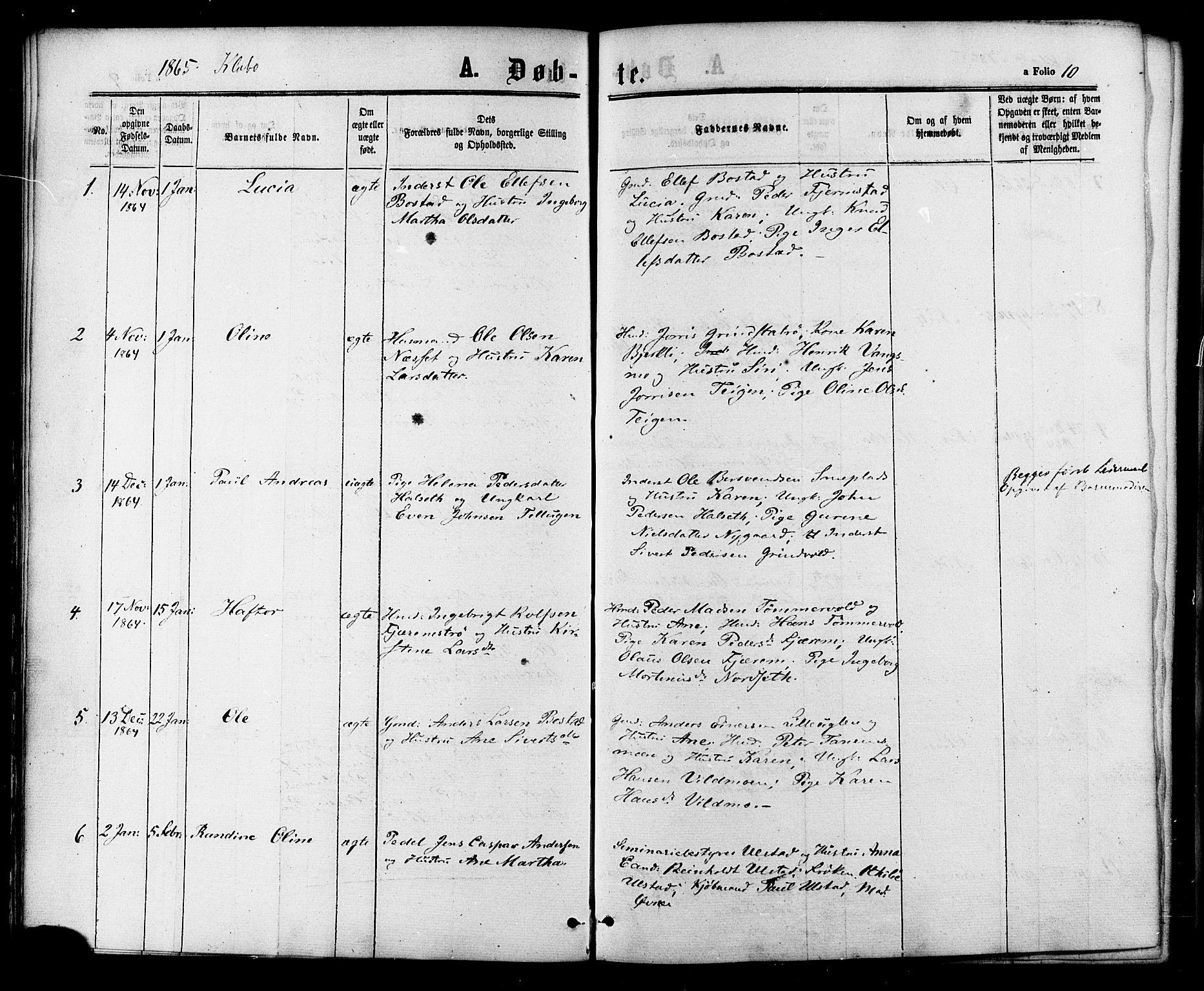 SAT, Ministerialprotokoller, klokkerbøker og fødselsregistre - Sør-Trøndelag, 618/L0442: Ministerialbok nr. 618A06 /1, 1863-1879, s. 10
