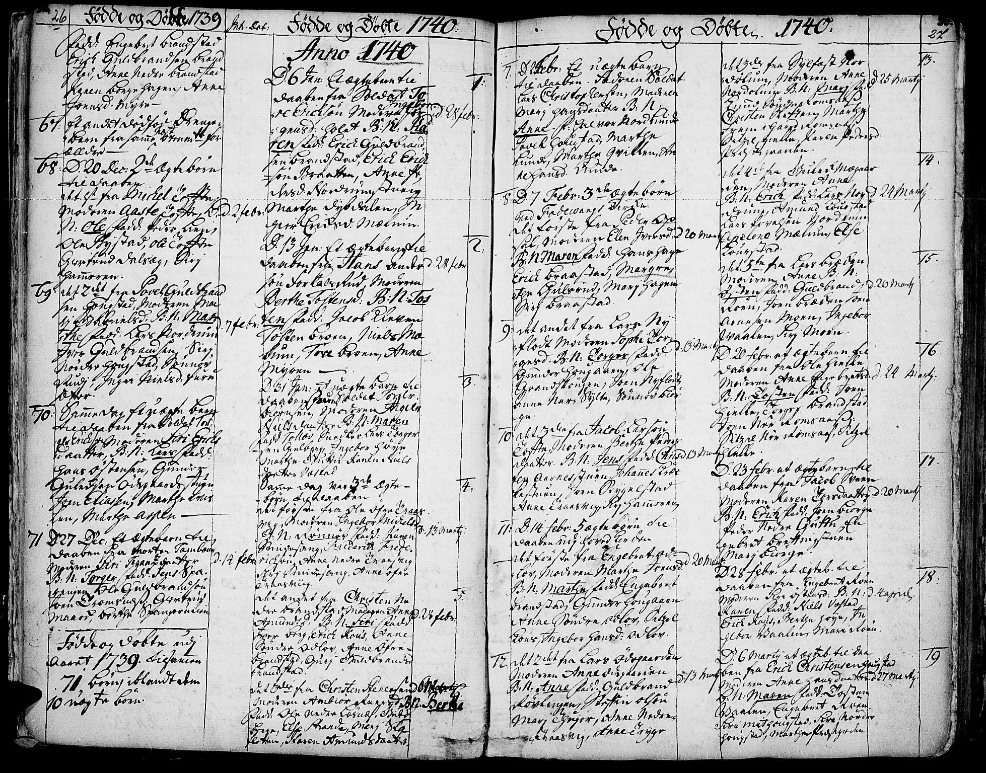 SAH, Ringebu prestekontor, Ministerialbok nr. 2, 1734-1780, s. 26-27