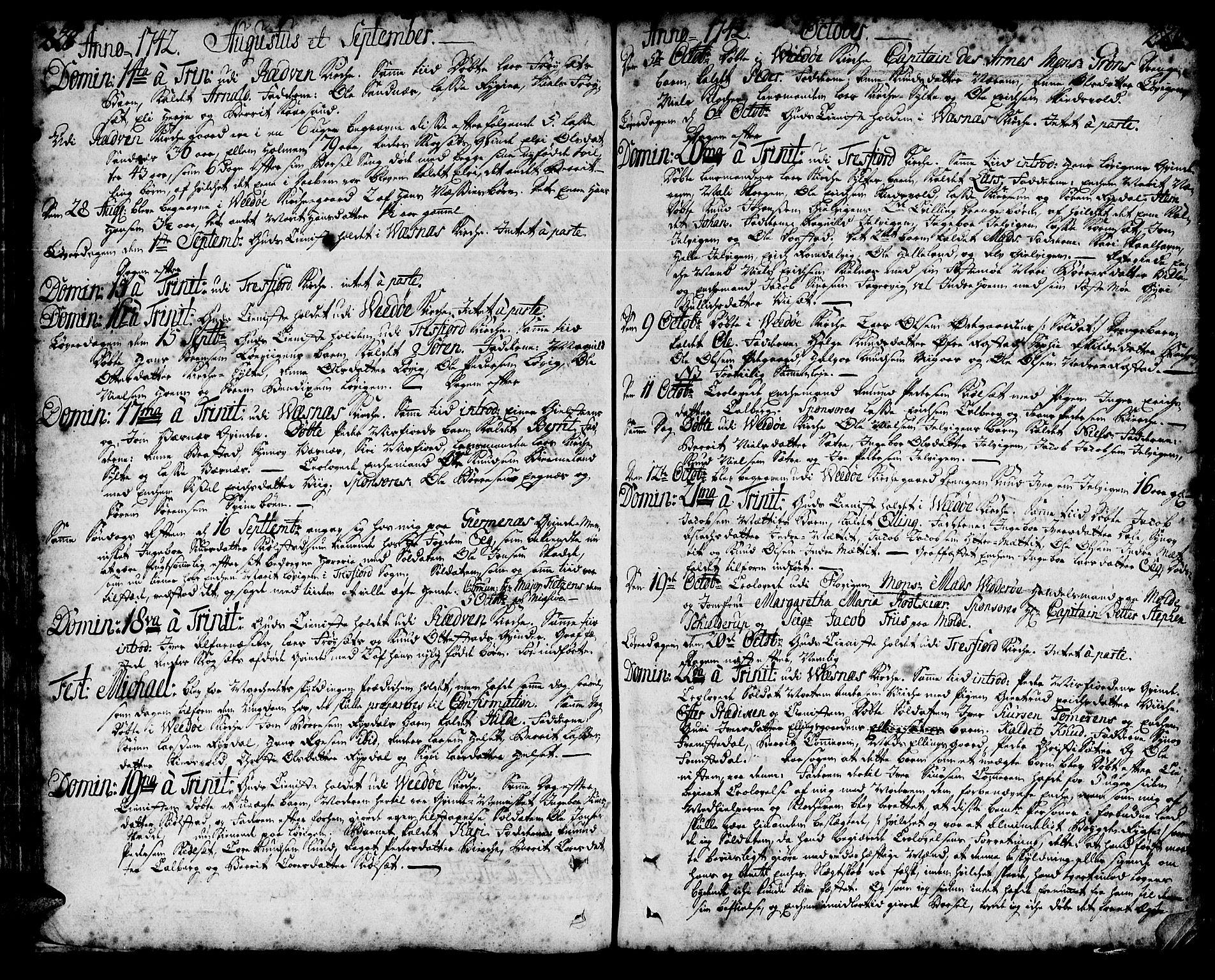 SAT, Ministerialprotokoller, klokkerbøker og fødselsregistre - Møre og Romsdal, 547/L0599: Ministerialbok nr. 547A01, 1721-1764, s. 228-229