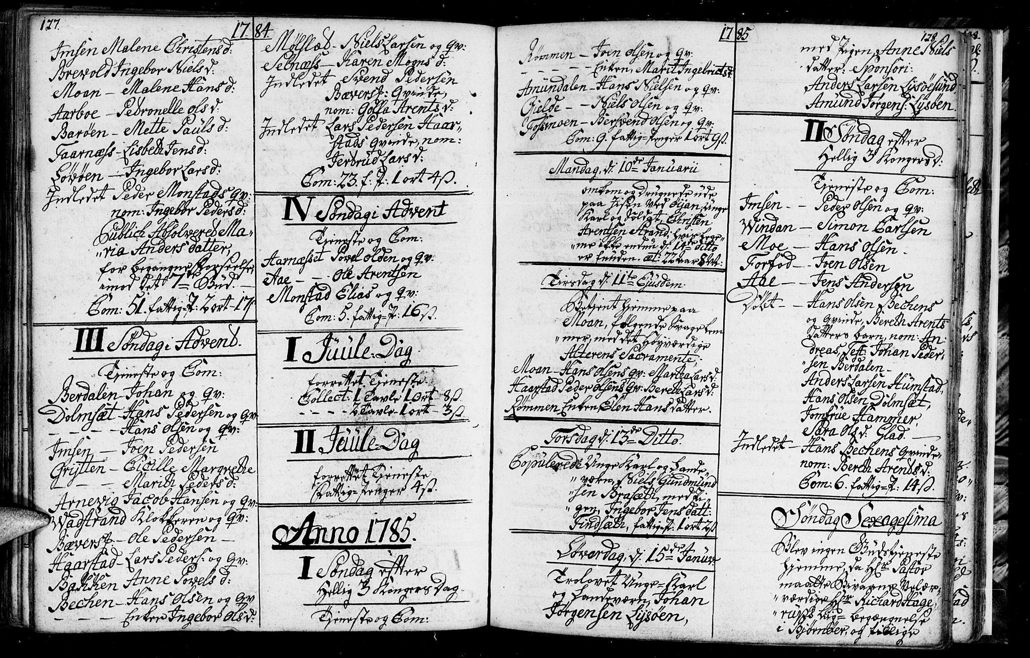 SAT, Ministerialprotokoller, klokkerbøker og fødselsregistre - Sør-Trøndelag, 655/L0685: Klokkerbok nr. 655C01, 1777-1788, s. 127-128