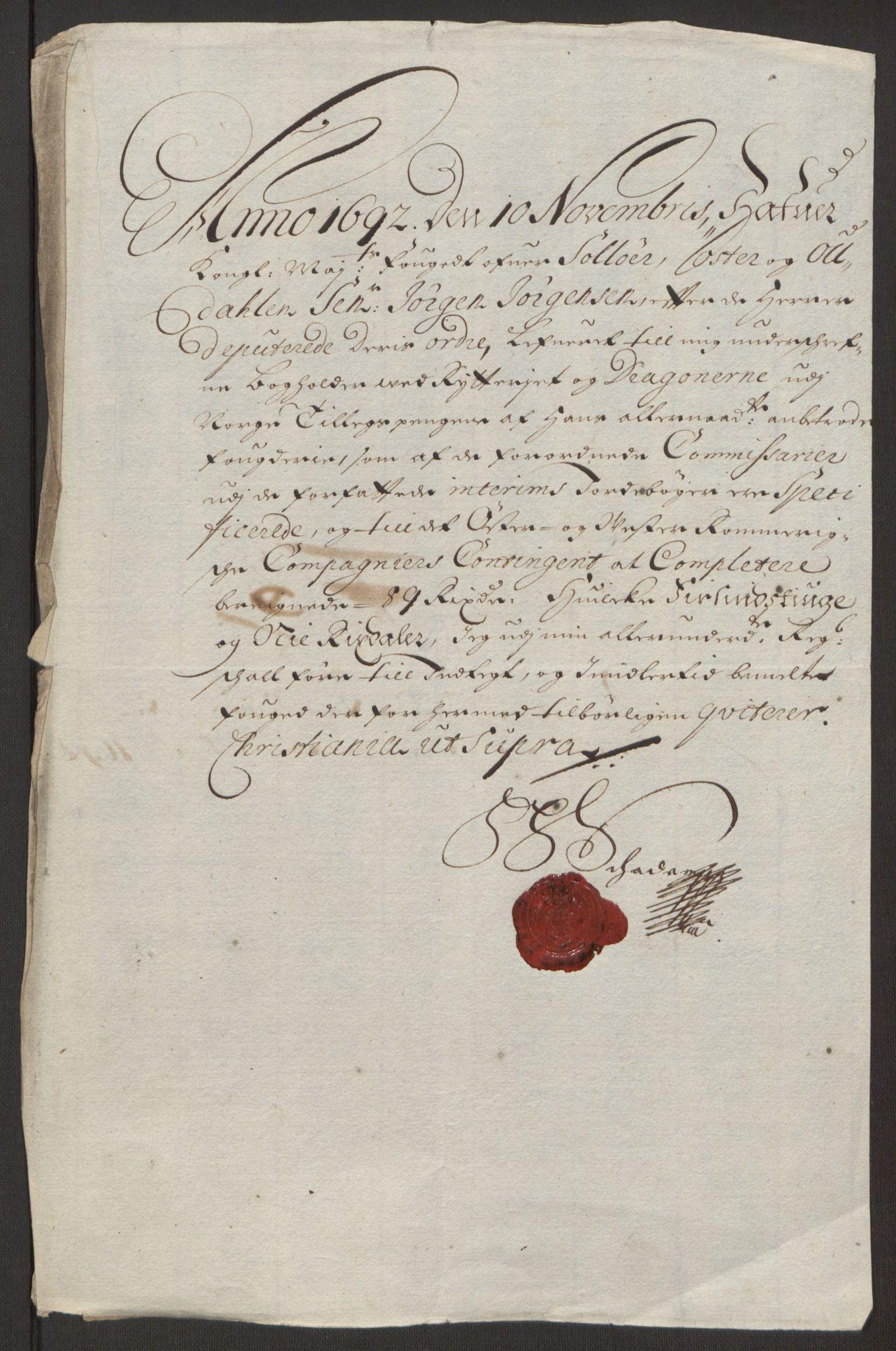 RA, Rentekammeret inntil 1814, Reviderte regnskaper, Fogderegnskap, R13/L0830: Fogderegnskap Solør, Odal og Østerdal, 1692, s. 428