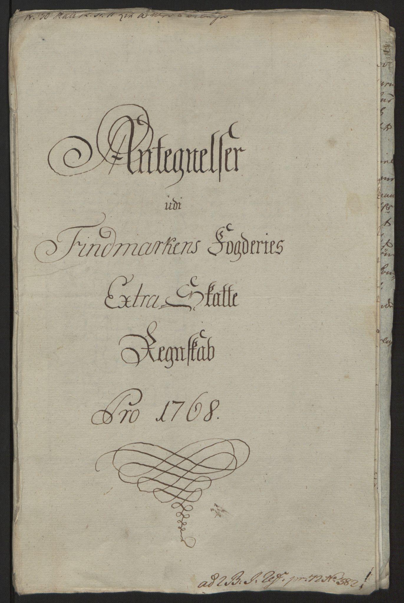 RA, Rentekammeret inntil 1814, Reviderte regnskaper, Fogderegnskap, R69/L4910: Ekstraskatten  Finnmark/Vardøhus, 1762-1772, s. 303