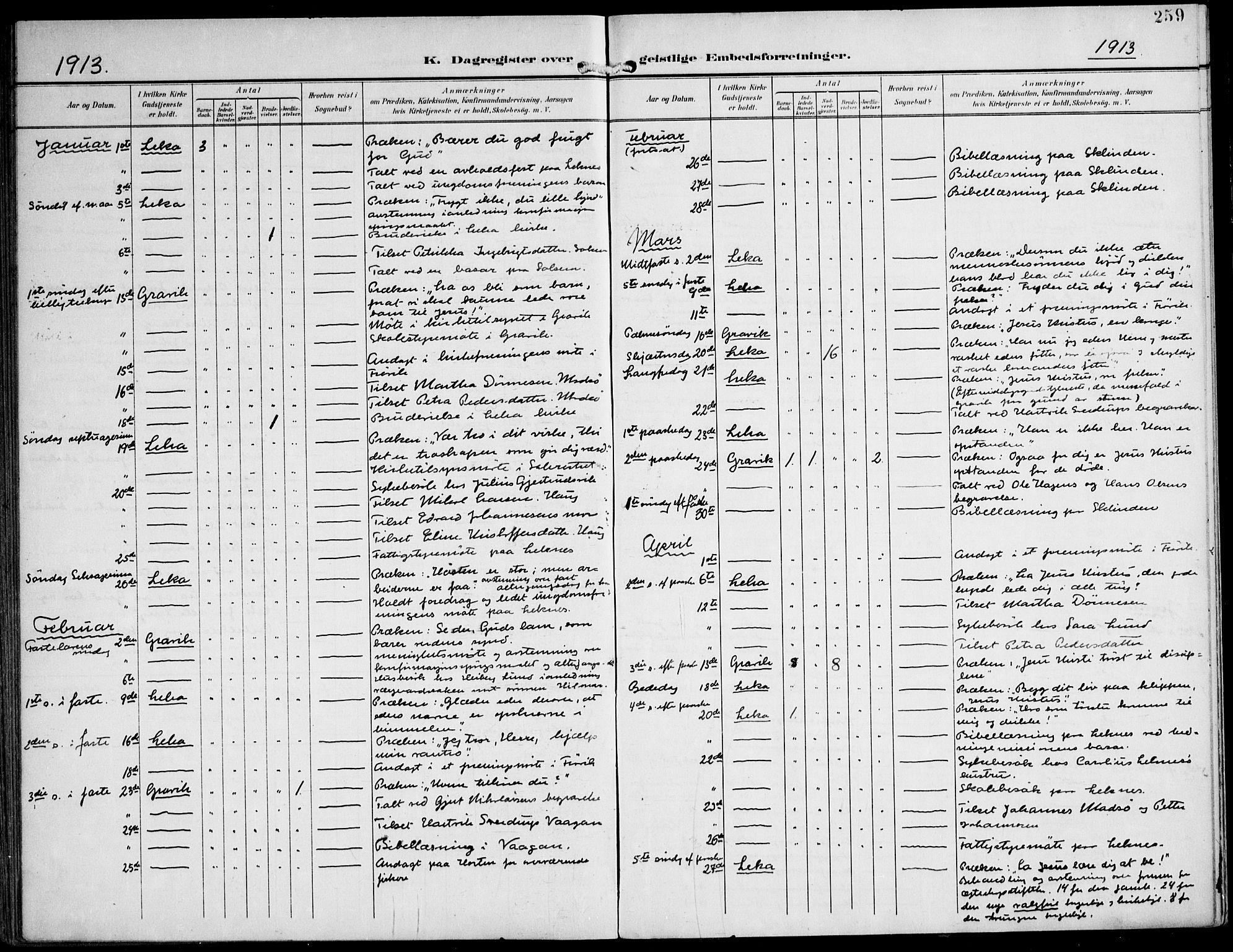 SAT, Ministerialprotokoller, klokkerbøker og fødselsregistre - Nord-Trøndelag, 788/L0698: Ministerialbok nr. 788A05, 1902-1921, s. 259