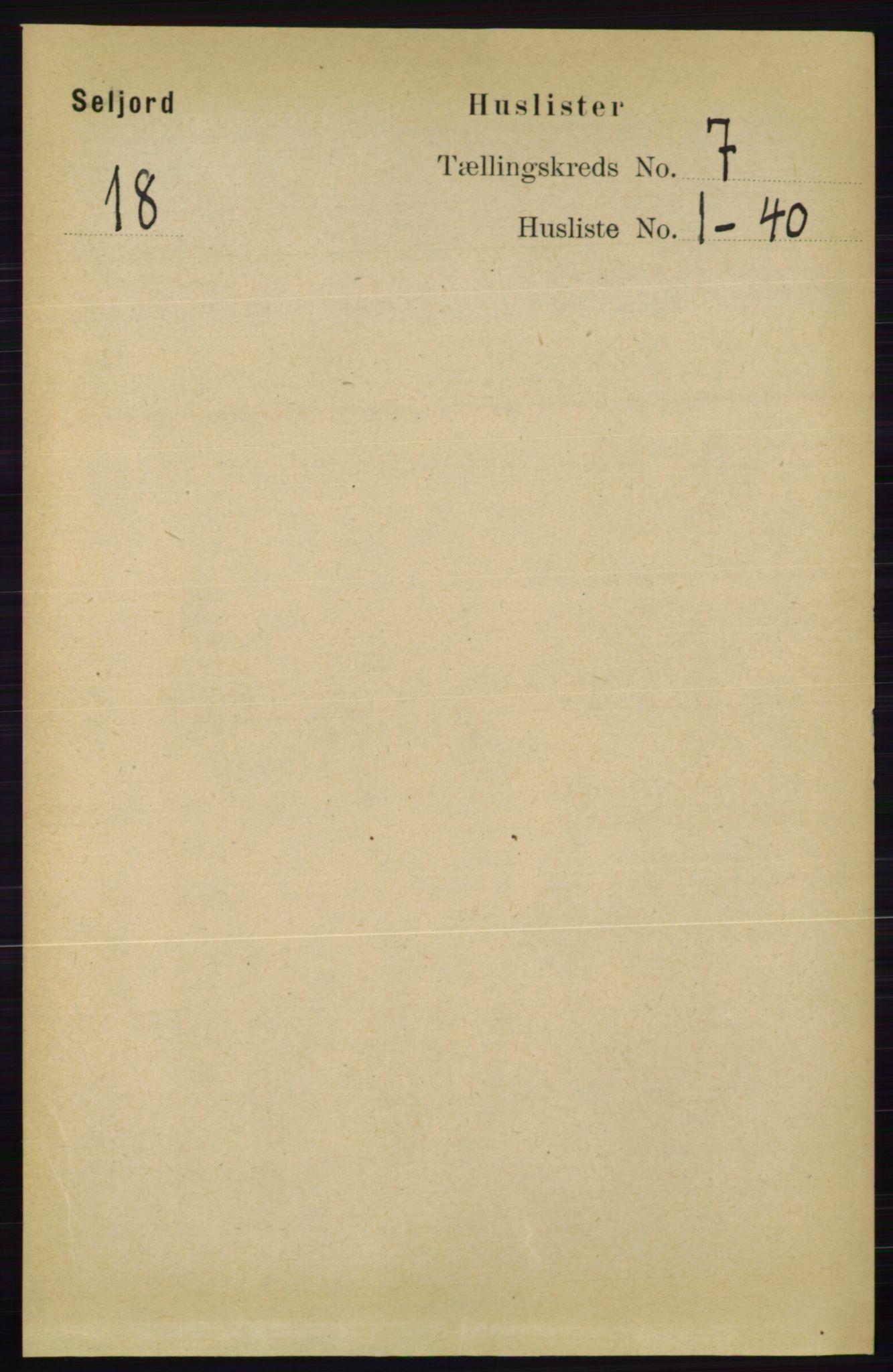 RA, Folketelling 1891 for 0828 Seljord herred, 1891, s. 2563