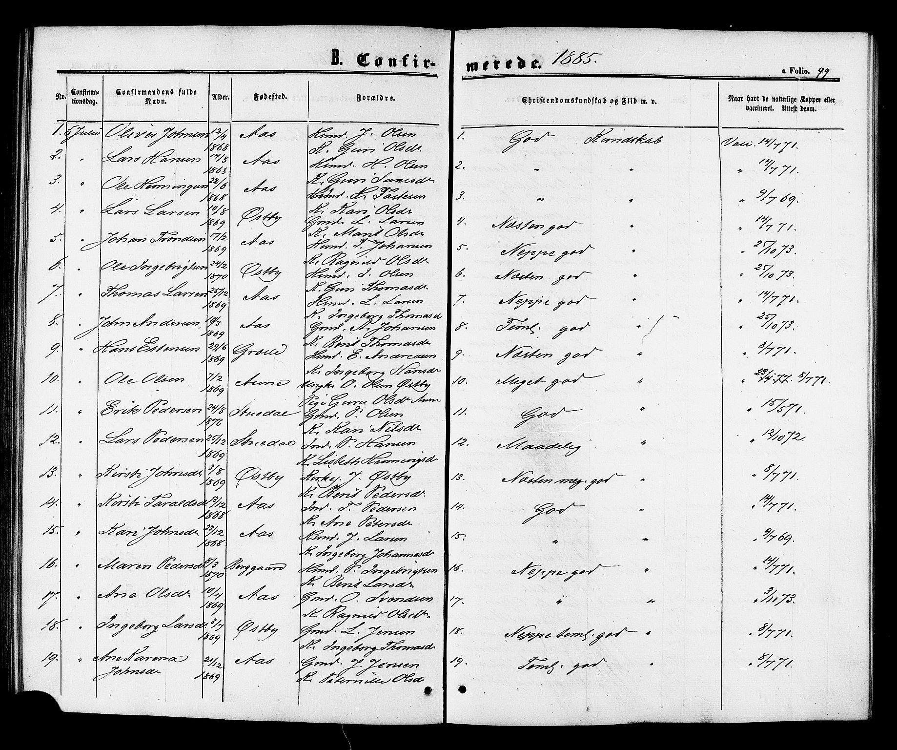 SAT, Ministerialprotokoller, klokkerbøker og fødselsregistre - Sør-Trøndelag, 698/L1163: Ministerialbok nr. 698A01, 1862-1887, s. 99