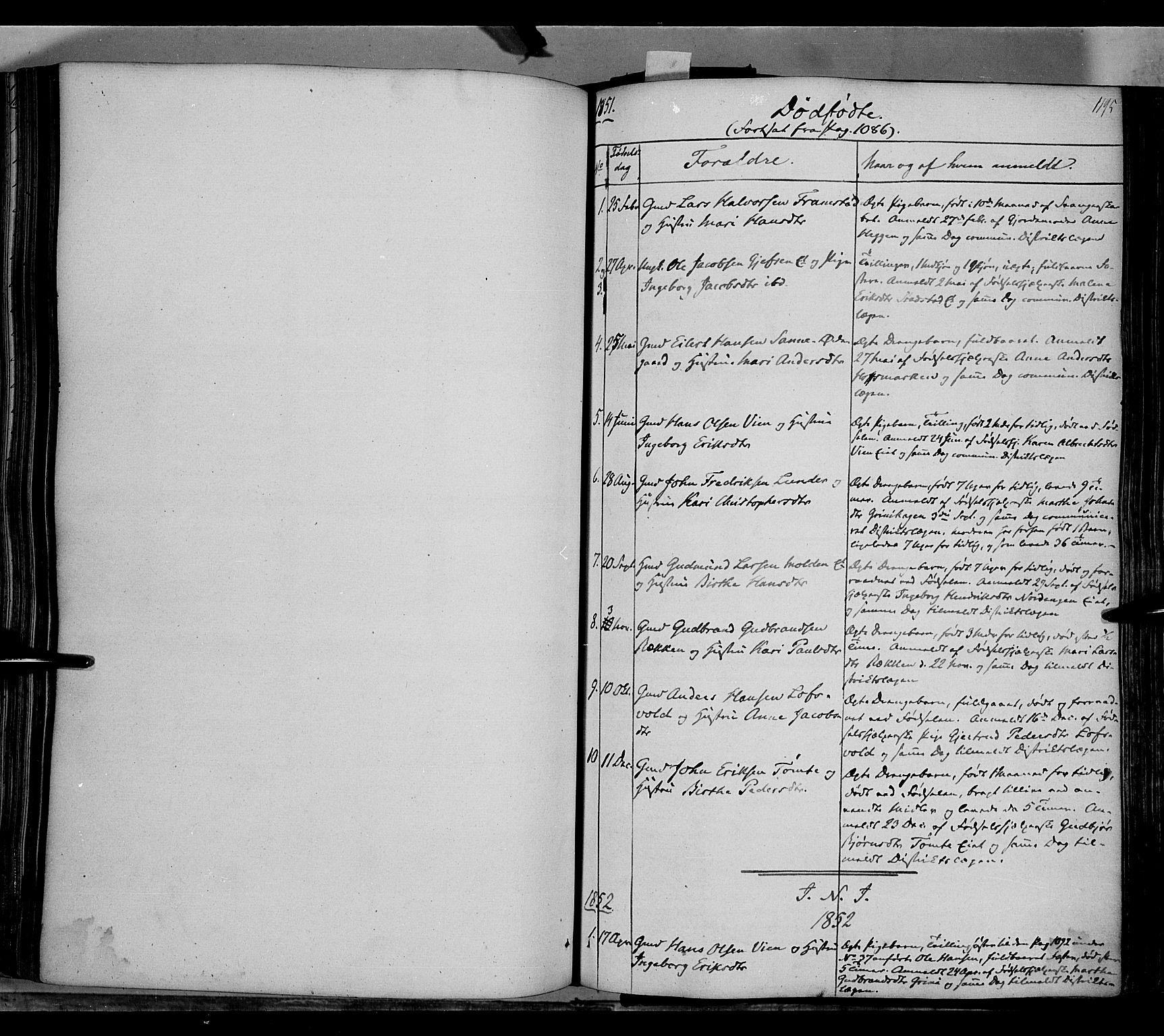 SAH, Gran prestekontor, Ministerialbok nr. 11, 1842-1856, s. 1194-1195