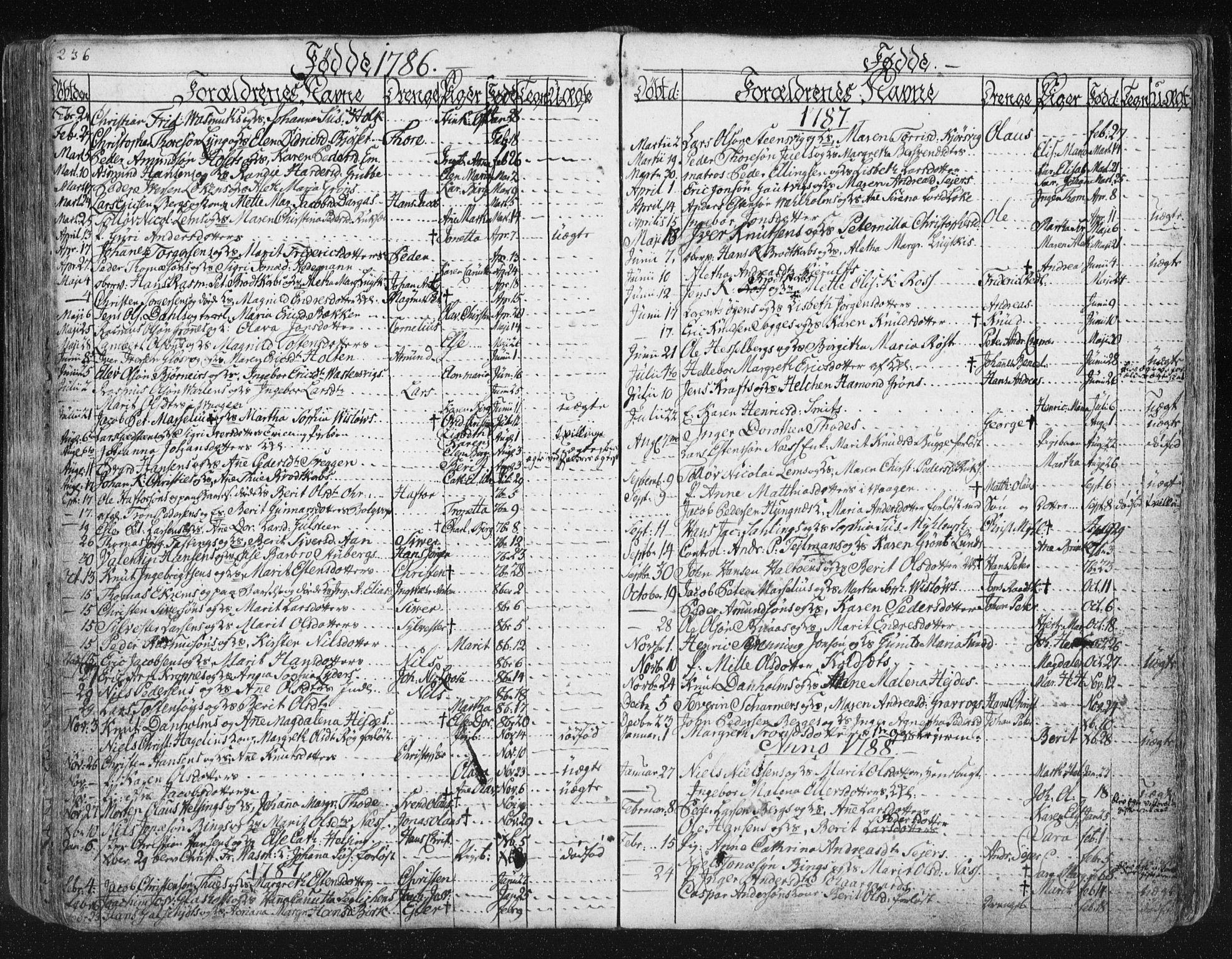 SAT, Ministerialprotokoller, klokkerbøker og fødselsregistre - Møre og Romsdal, 572/L0841: Ministerialbok nr. 572A04, 1784-1819, s. 236